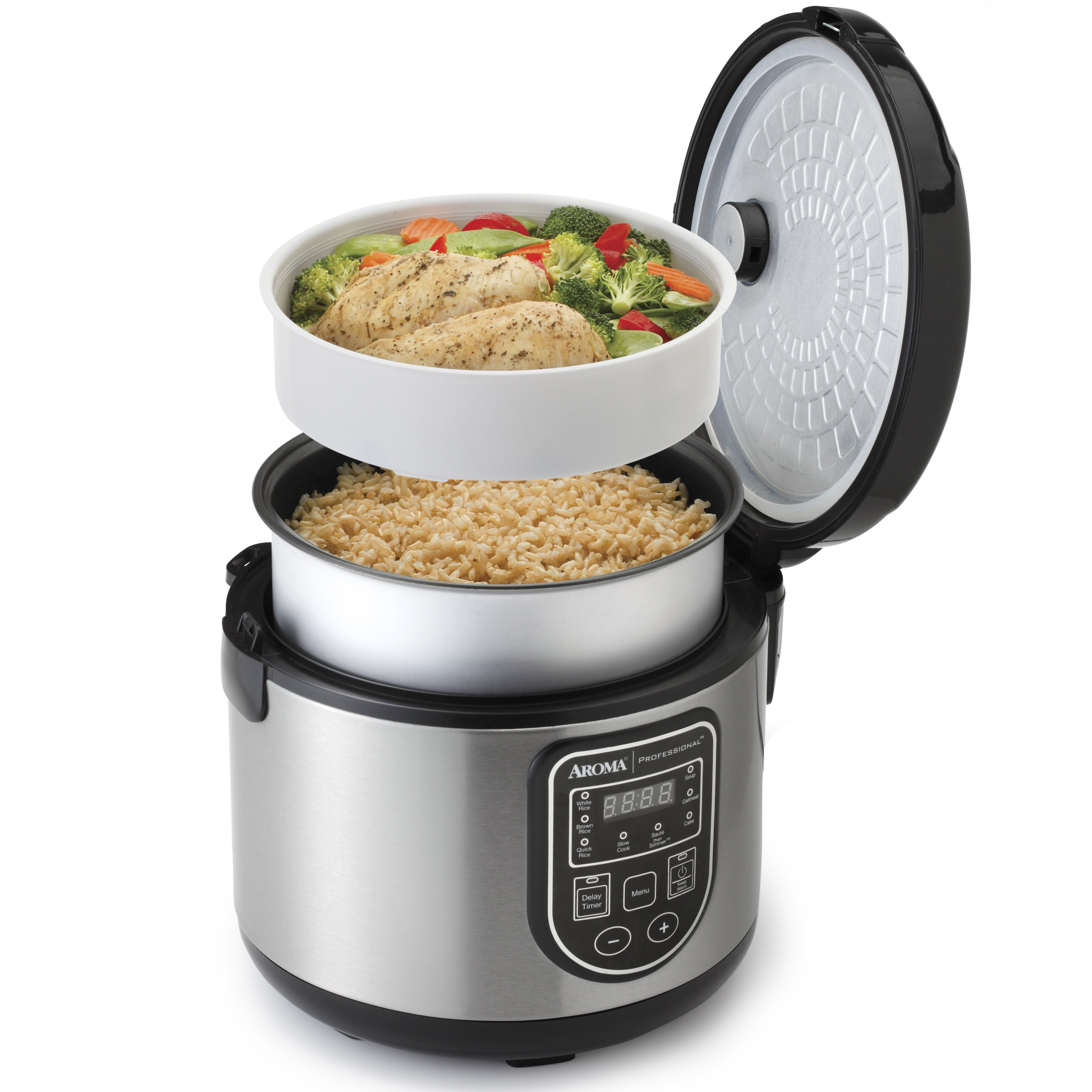 Aroma 6cup Rice Cooker & Reviews Wayfair Food Steamer How To Cook Brown Rice  In Rice