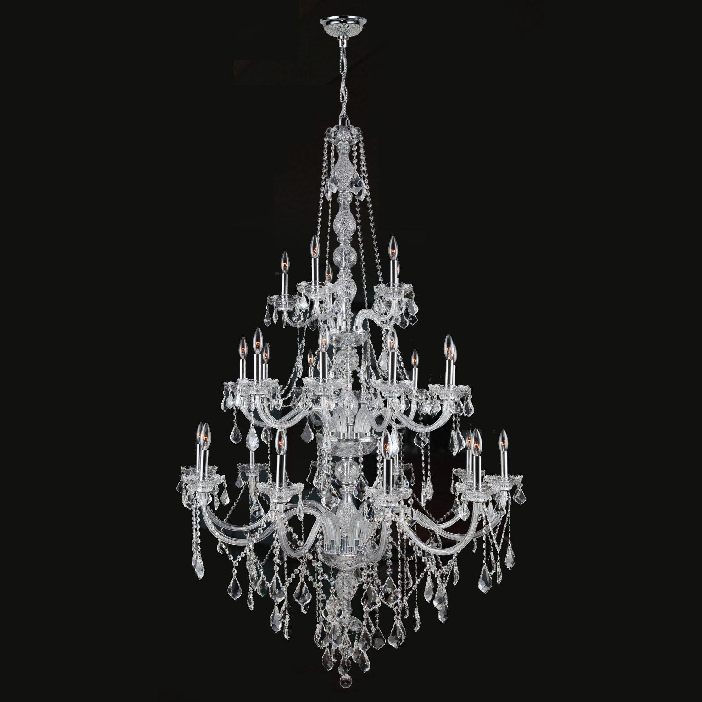 Worldwide Lighting Provence 25Light Crystal Chandelier Reviews – Crystal Chandelier Lights