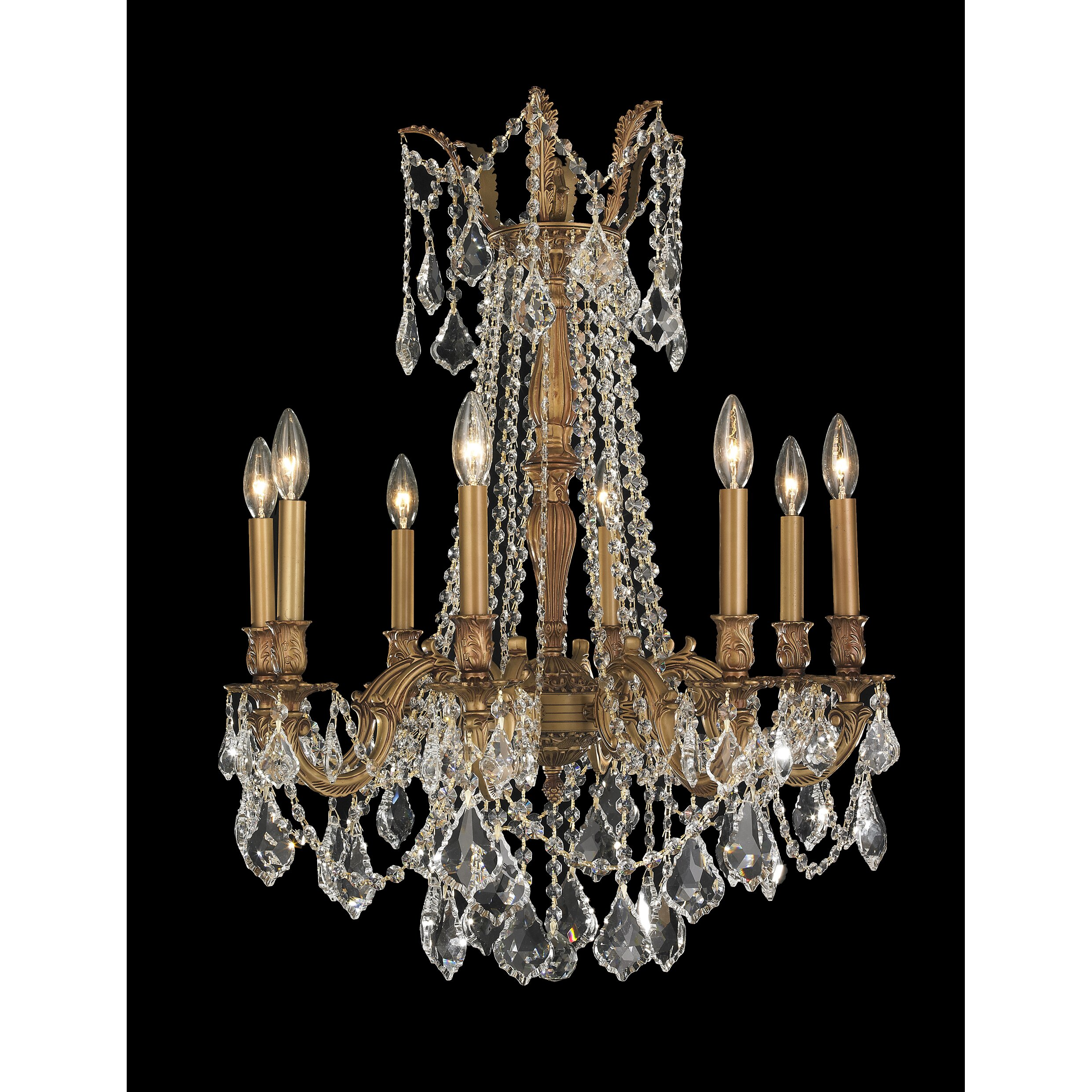 8 Light Crystal Chandelier: Worldwide Lighting Windsor 8-Light Crystal Chandelier,Lighting
