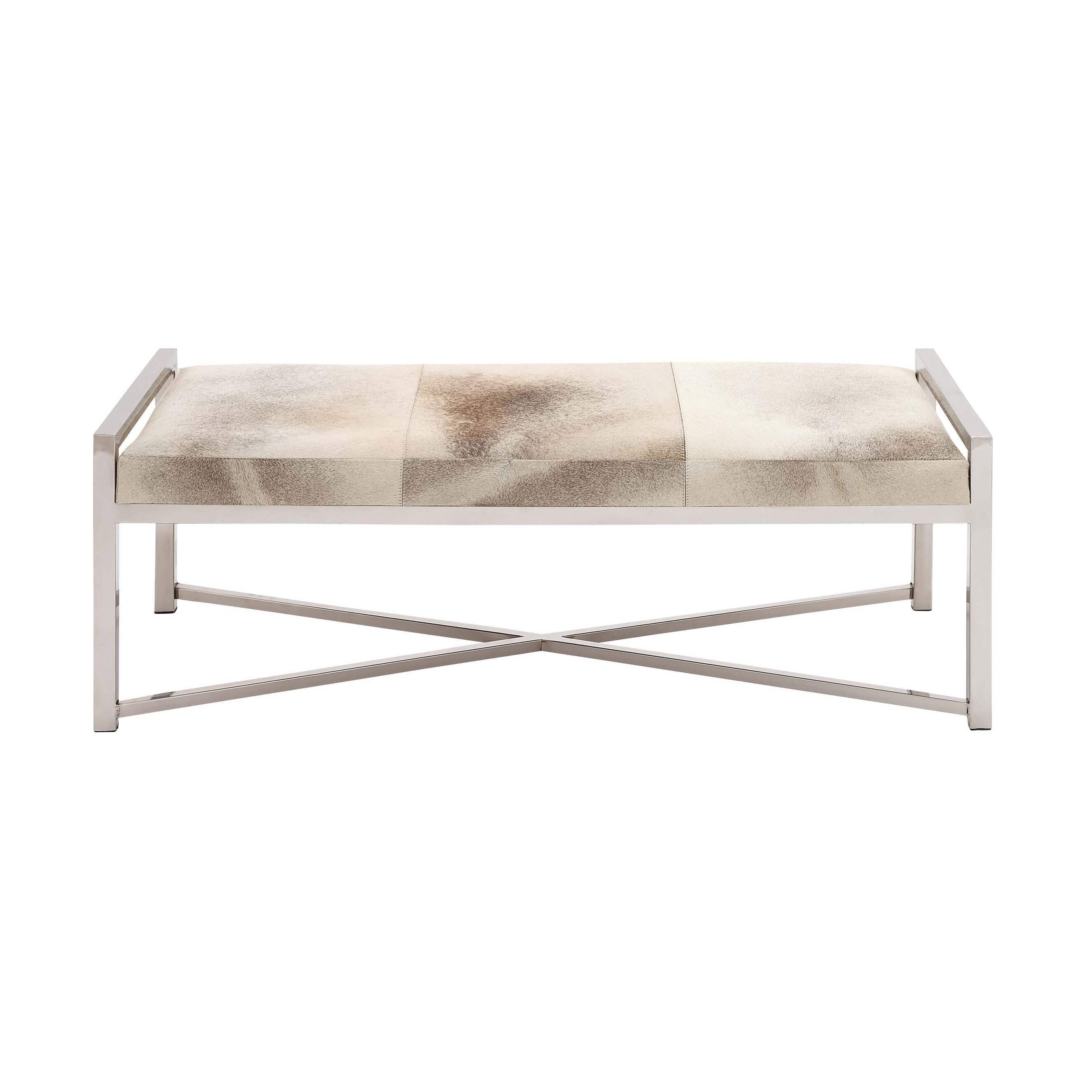Leather Bedroom Bench Woodland Imports The Heartthrob Metal And Leather Bedroom Bench