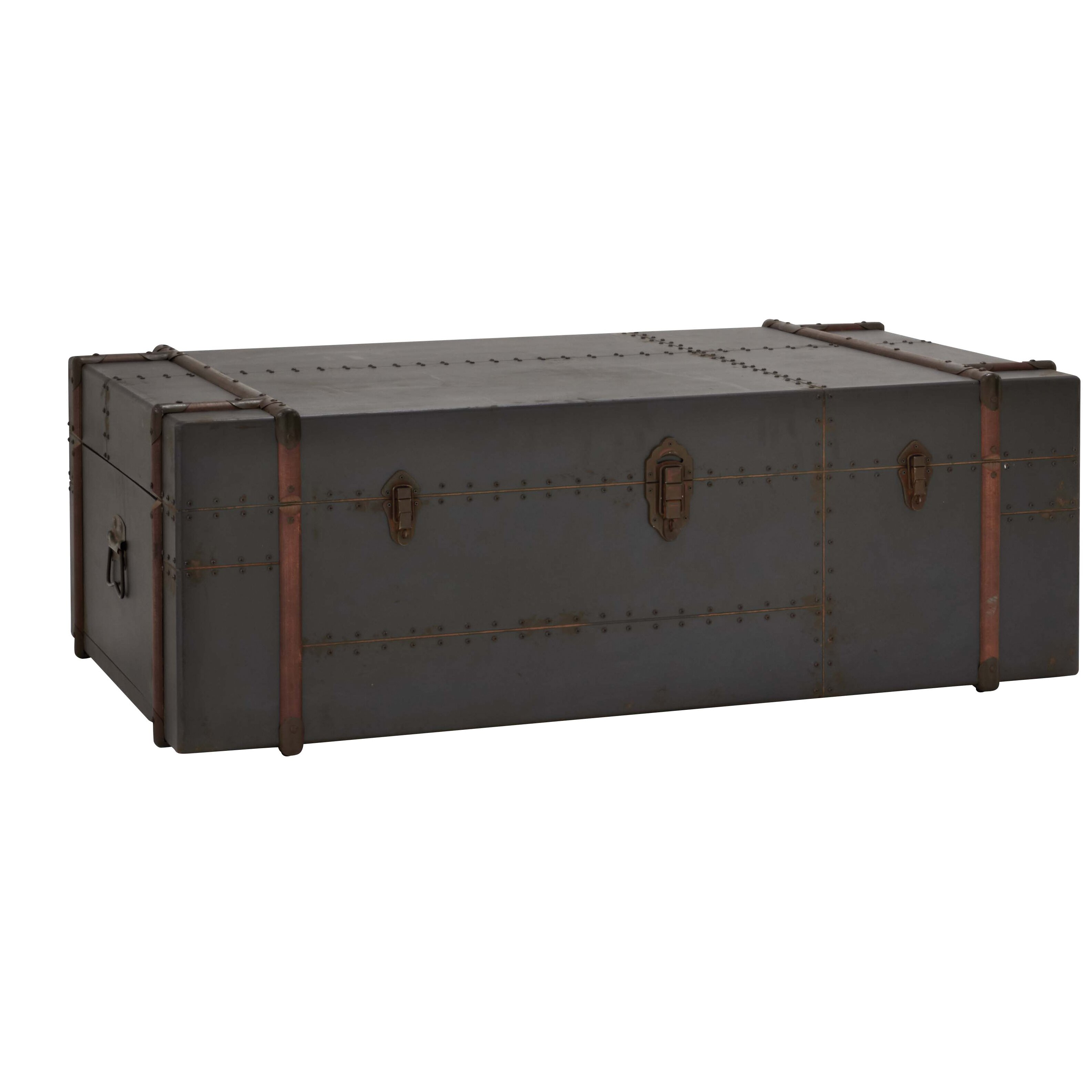 Black Steamer Trunk Coffee Table Woodland Imports Antique Trunk Coffee Table Reviews Wayfair