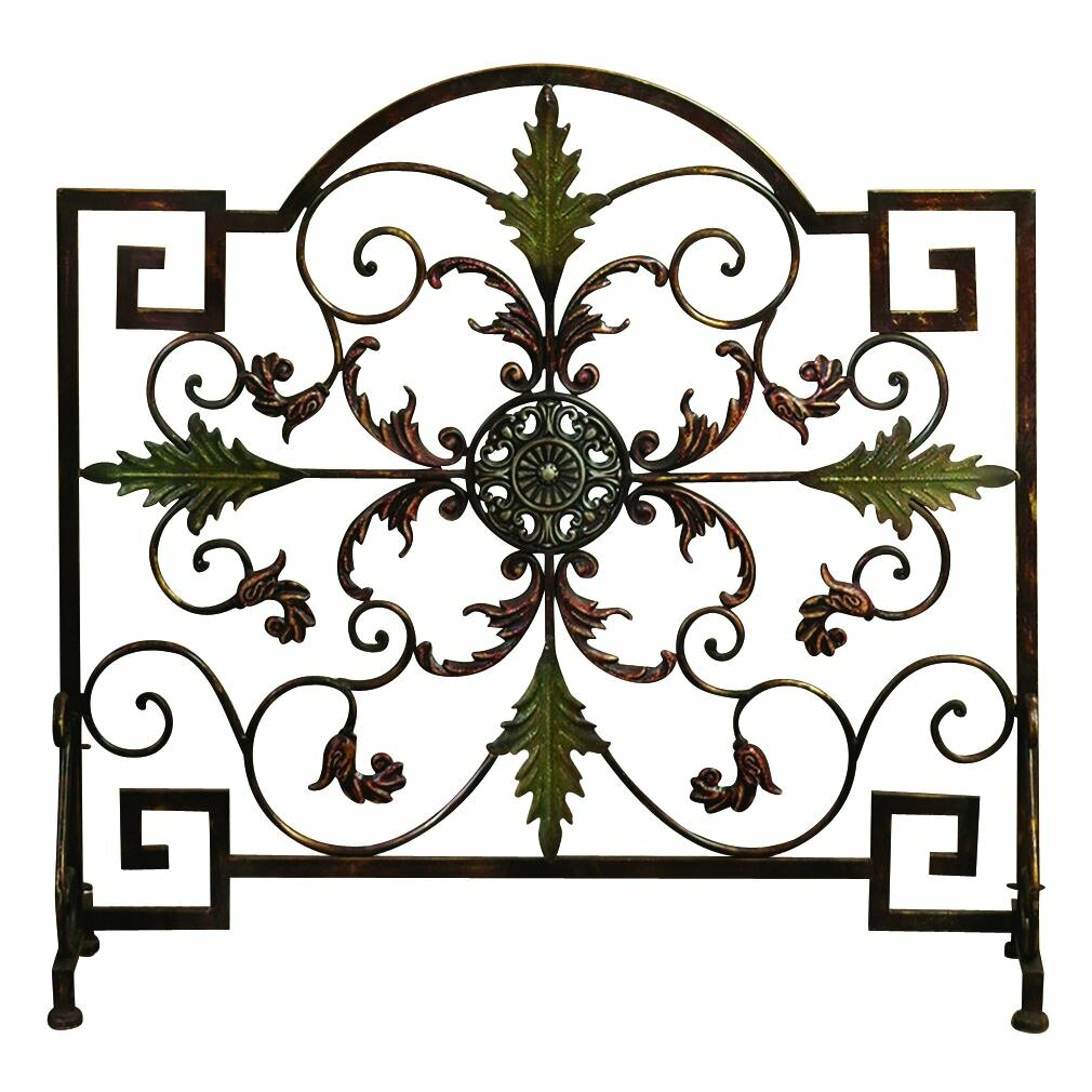 Woodland Imports Single Panel Metal Fireplace Screen - Woodland Imports Single Panel Metal Fireplace Screen & Reviews