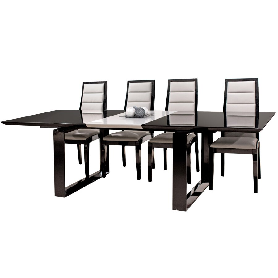 sharelle dining table -  sharelle furnishings natalia extendable dining table