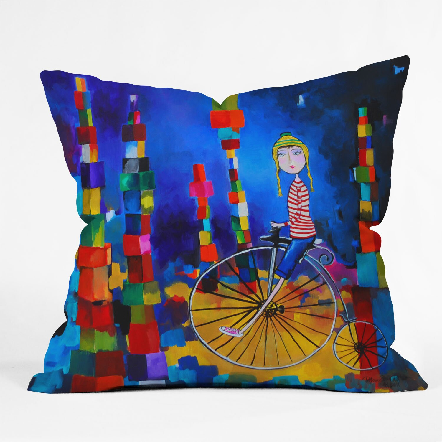 DENY Designs Robin Faye Gates Out of Bounds Throw Pillow & Reviews Wayfair