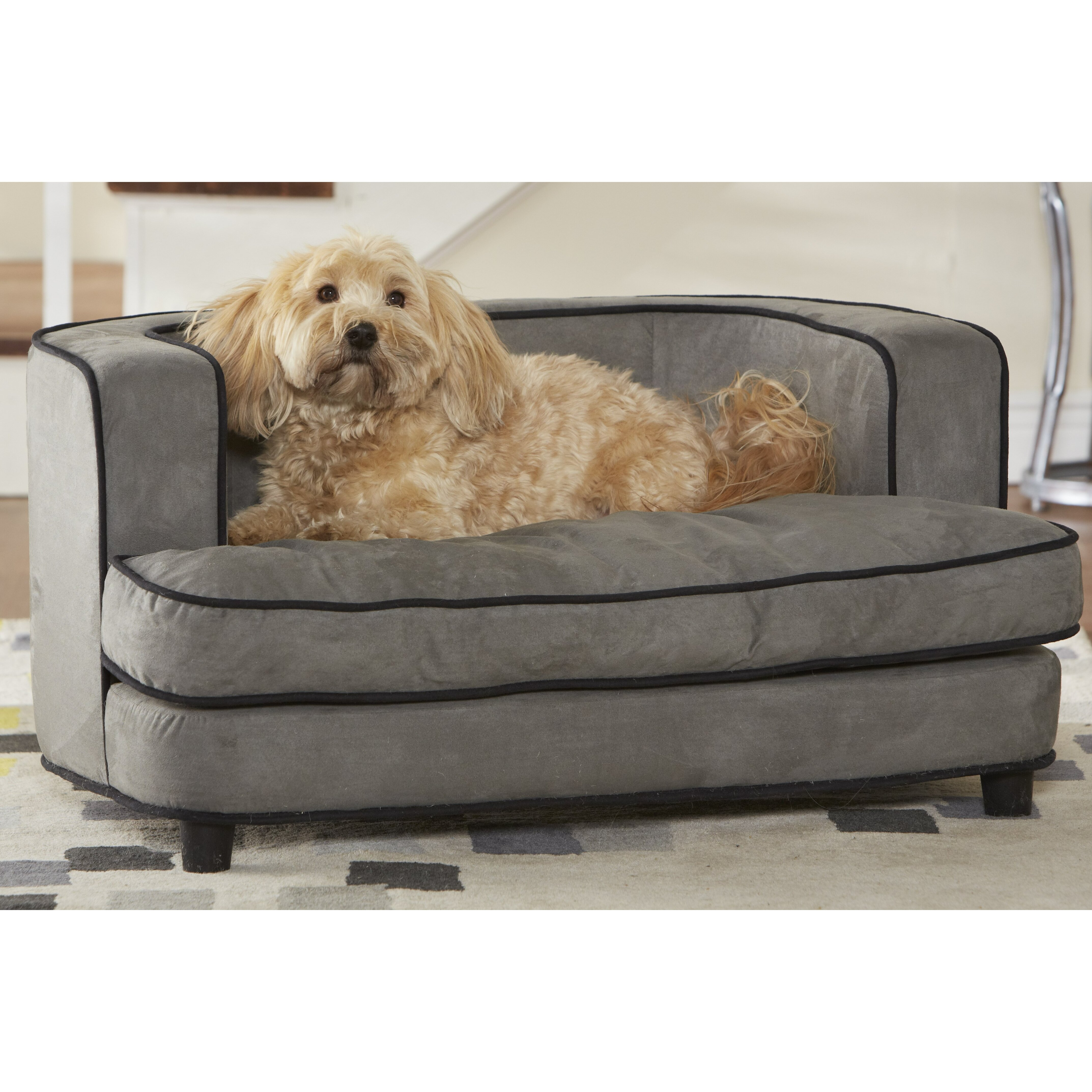 enchanted home pet ultra plush large cliff bed