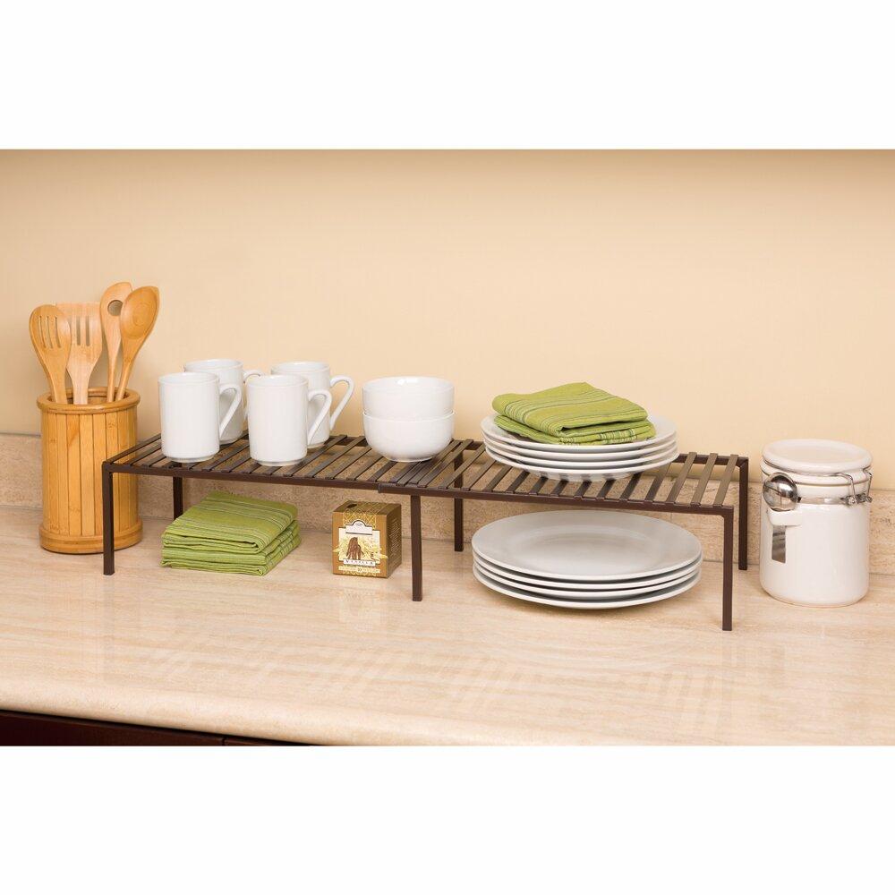 Seville Classics Expandable Kitchen Cabinet Shelf Organizer Reviews