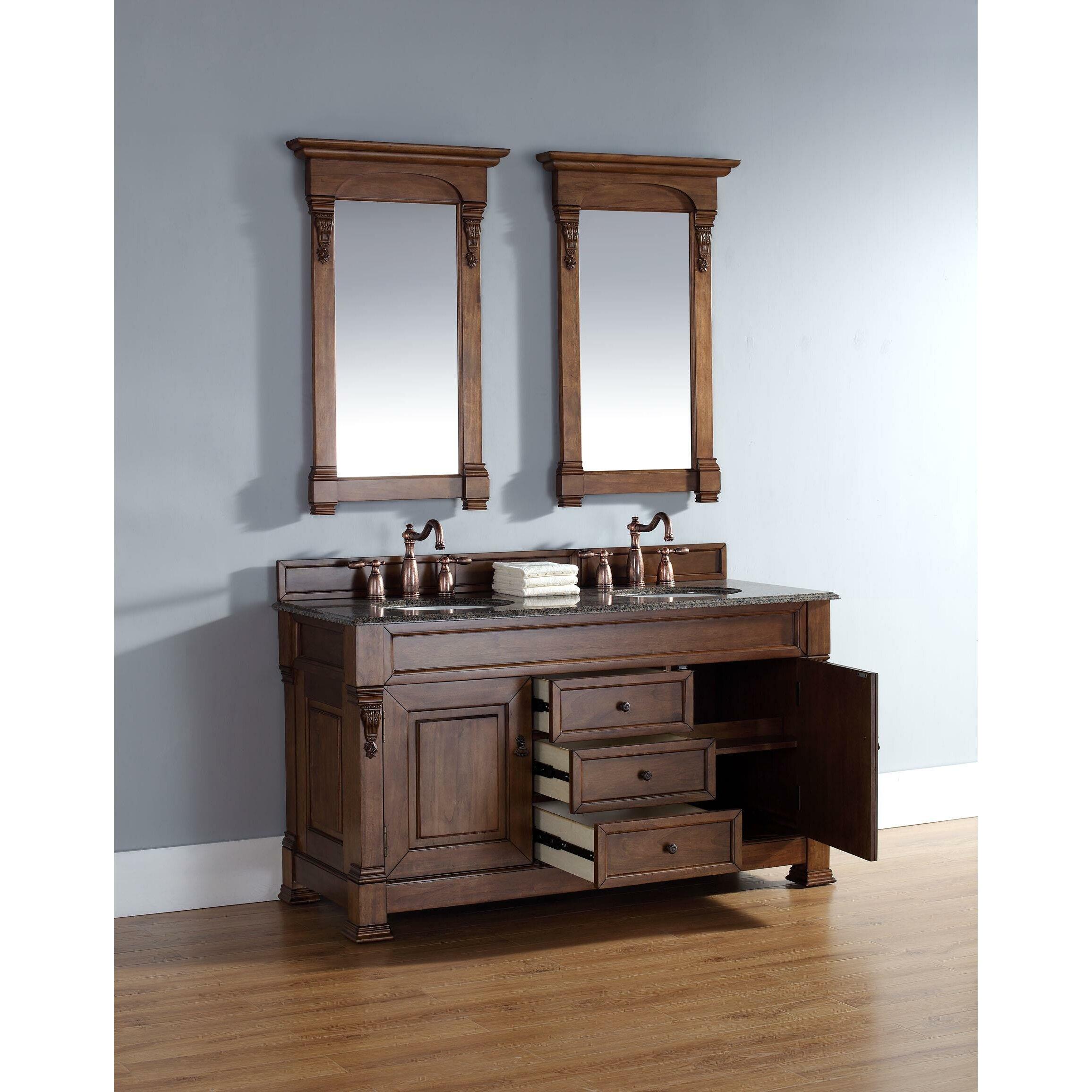 Bathroom Vanity Base James Martin Furniture Brookfield 60 Double Bathroom Vanity Base