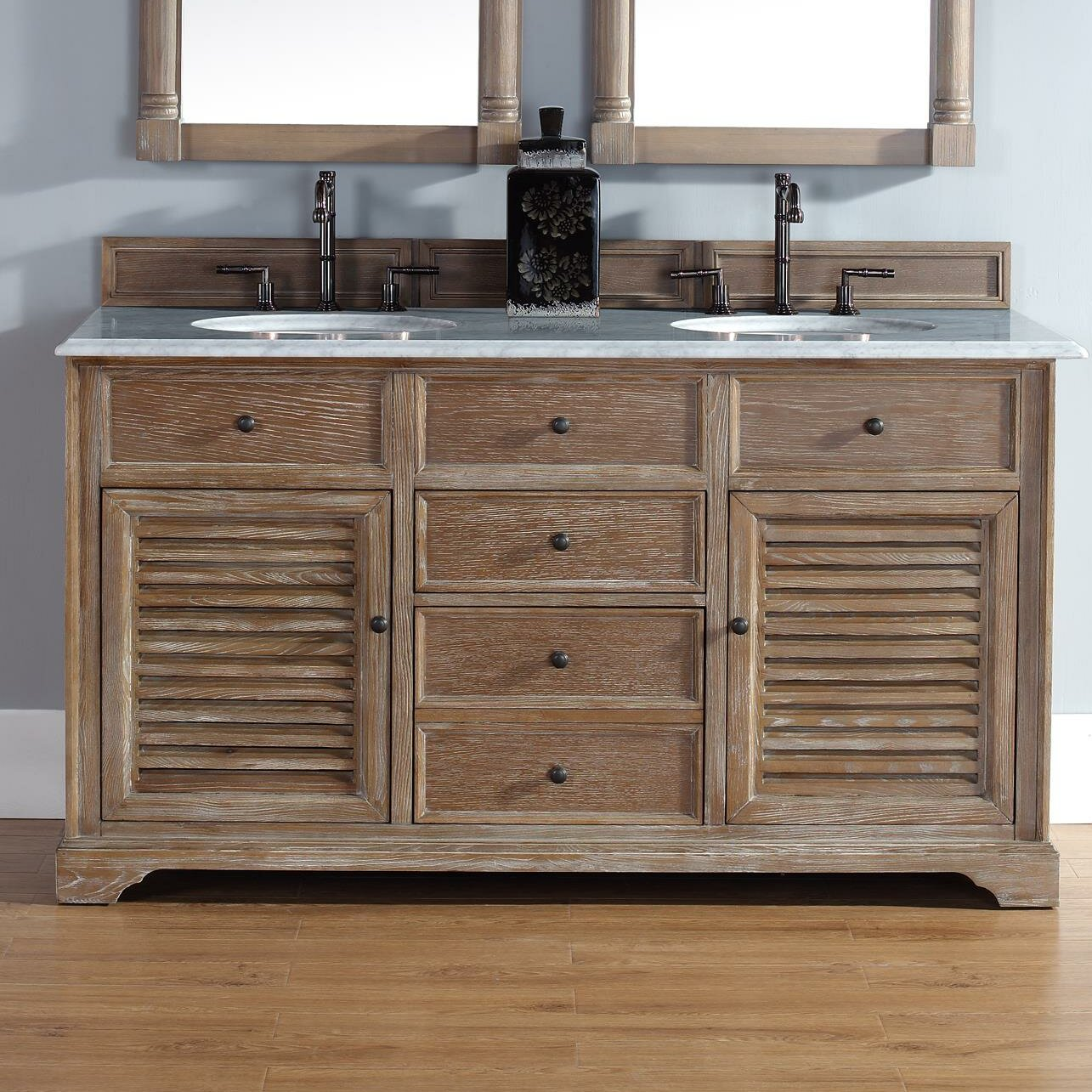 60 Bathroom Cabinet James Martin Furniture Savannah 60 Double Driftwood Bathroom