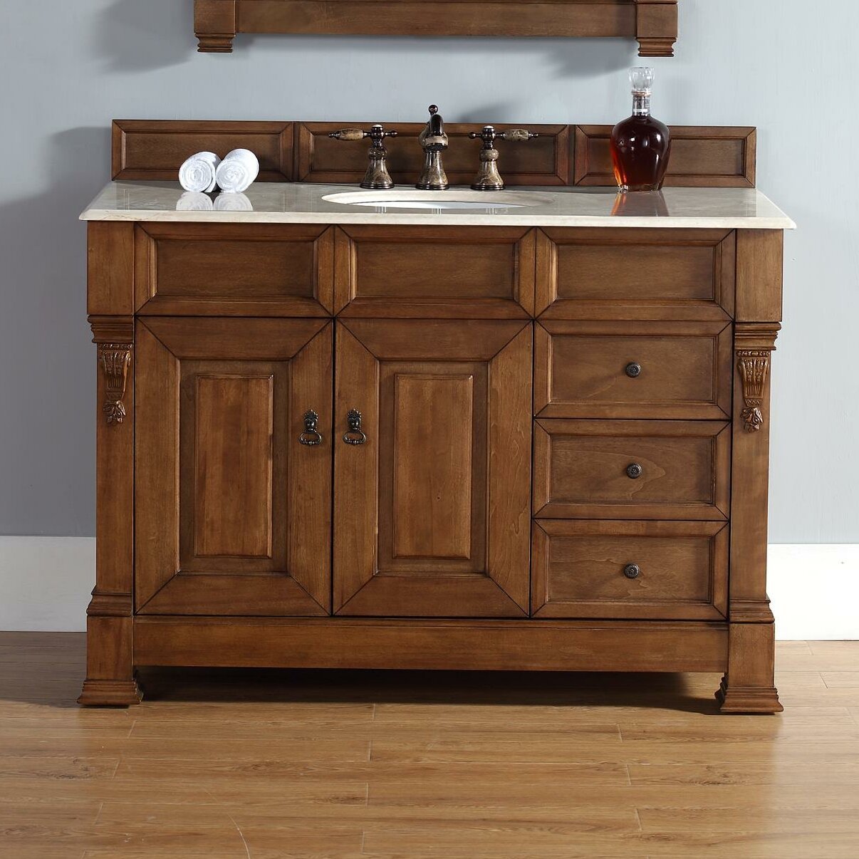 "James Martin Furniture Brookfield 48"" Single Country Oak"