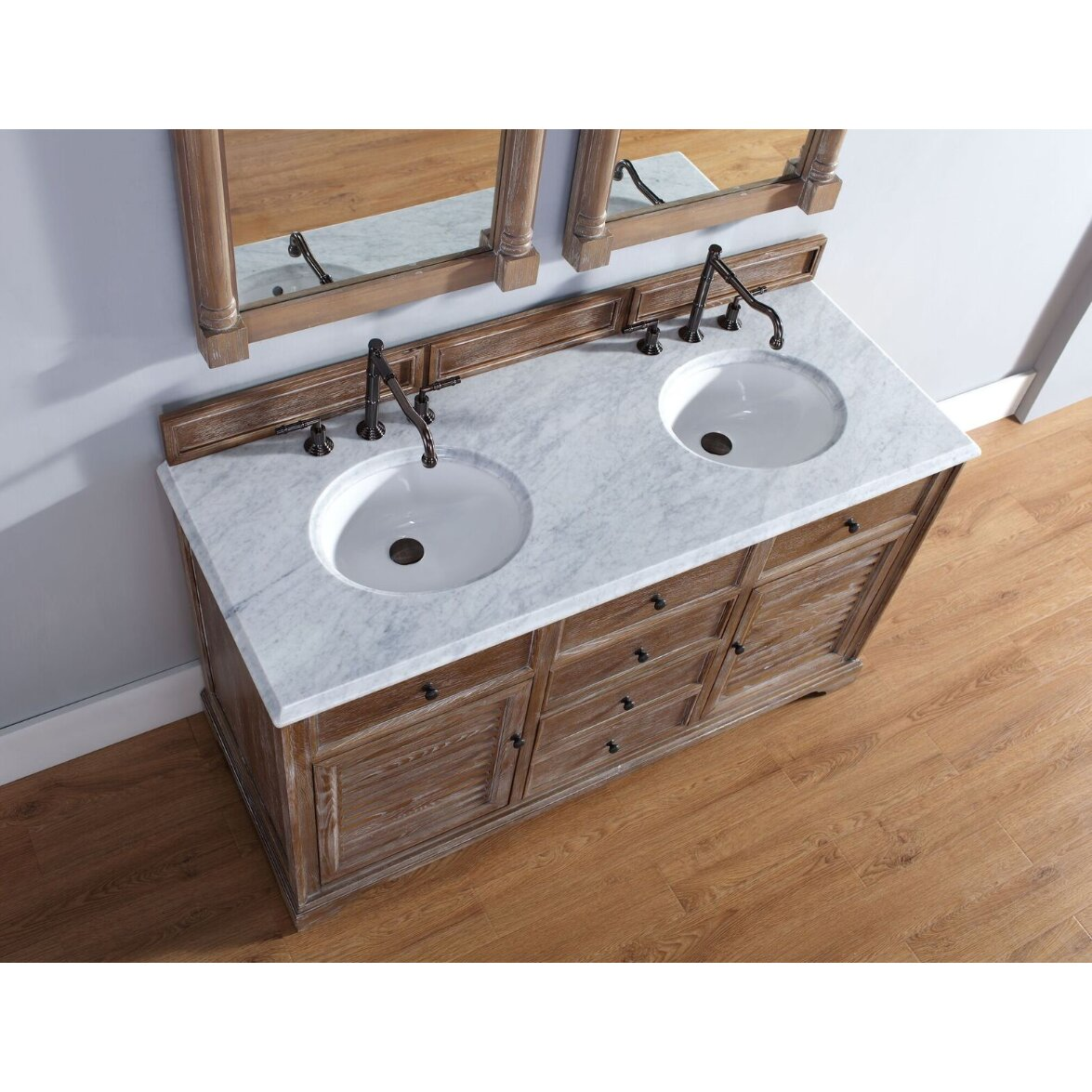 Driftwood Bathroom Vanity James Martin Furniture Savannah 60 Double Driftwood Bathroom