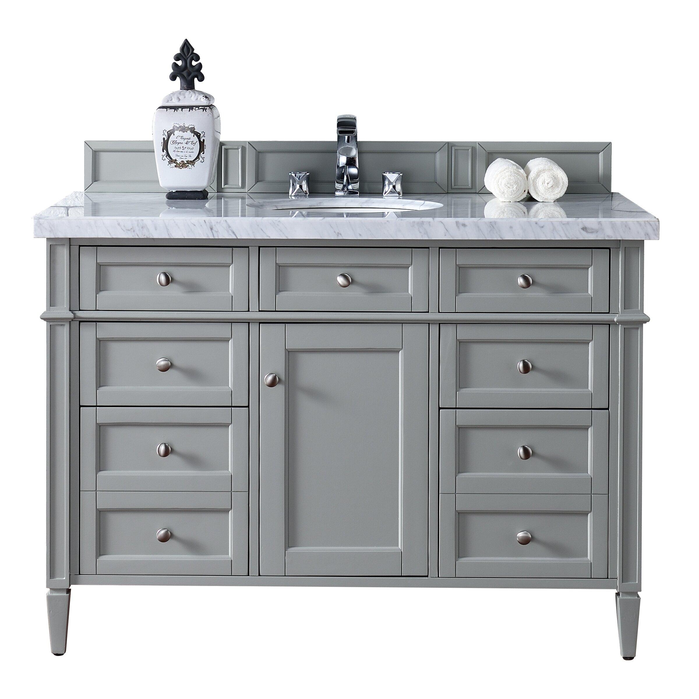 Bathroom Vanity Base James Martin Furniture Brittany 48 Single Bathroom Vanity Base