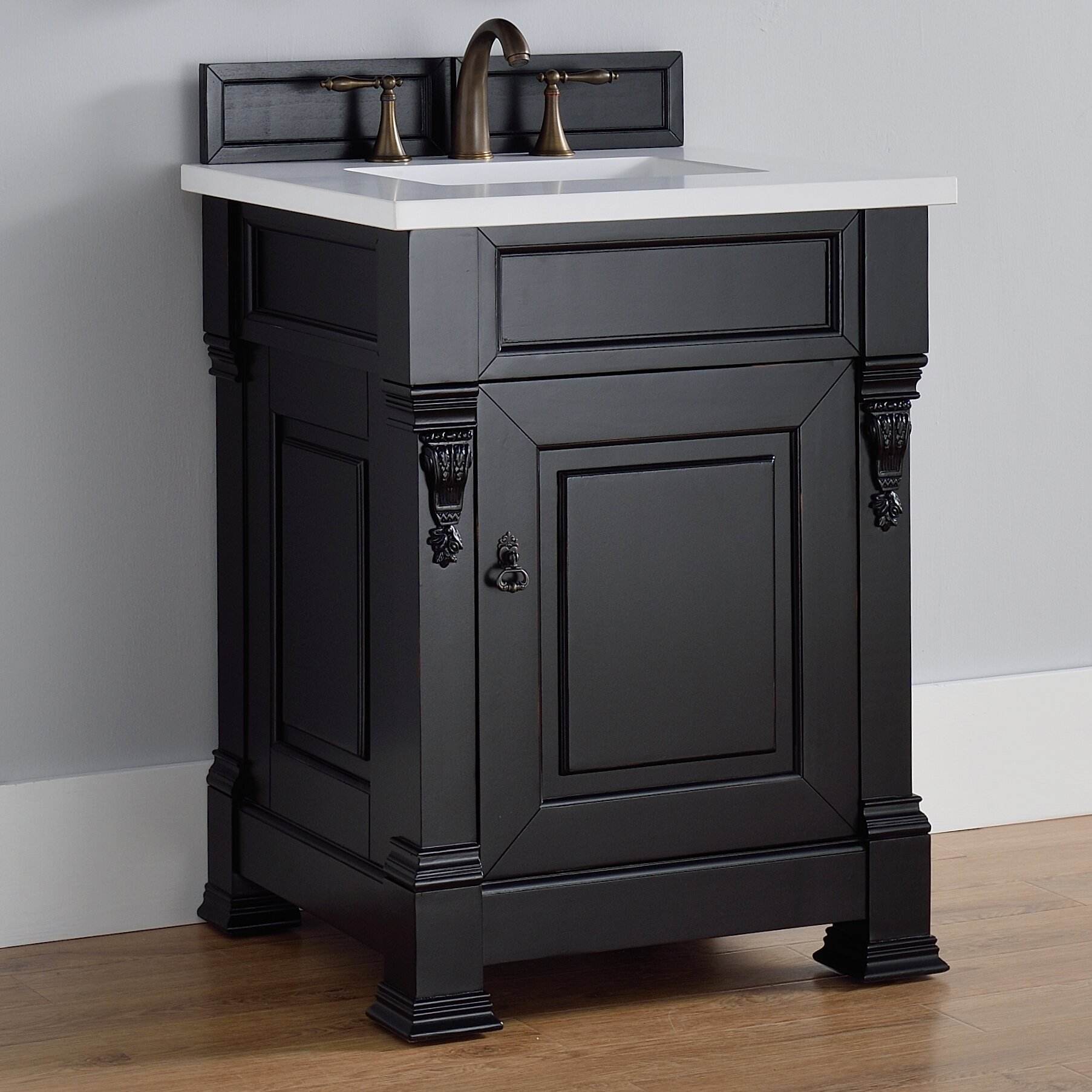 26 single antique black bathroom vanity set by james martin furniture