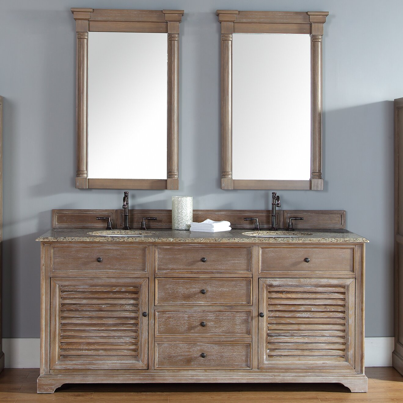 James Martin Furniture Savannah 72quot Double Driftwood Bathroom