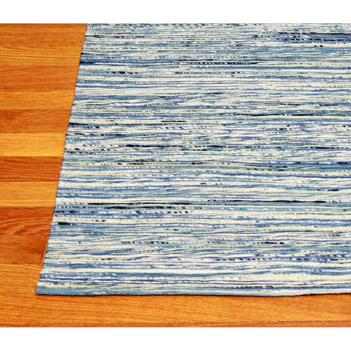 mats inc sari silk and jute hand woven gray light blue area rug wayfair. Black Bedroom Furniture Sets. Home Design Ideas