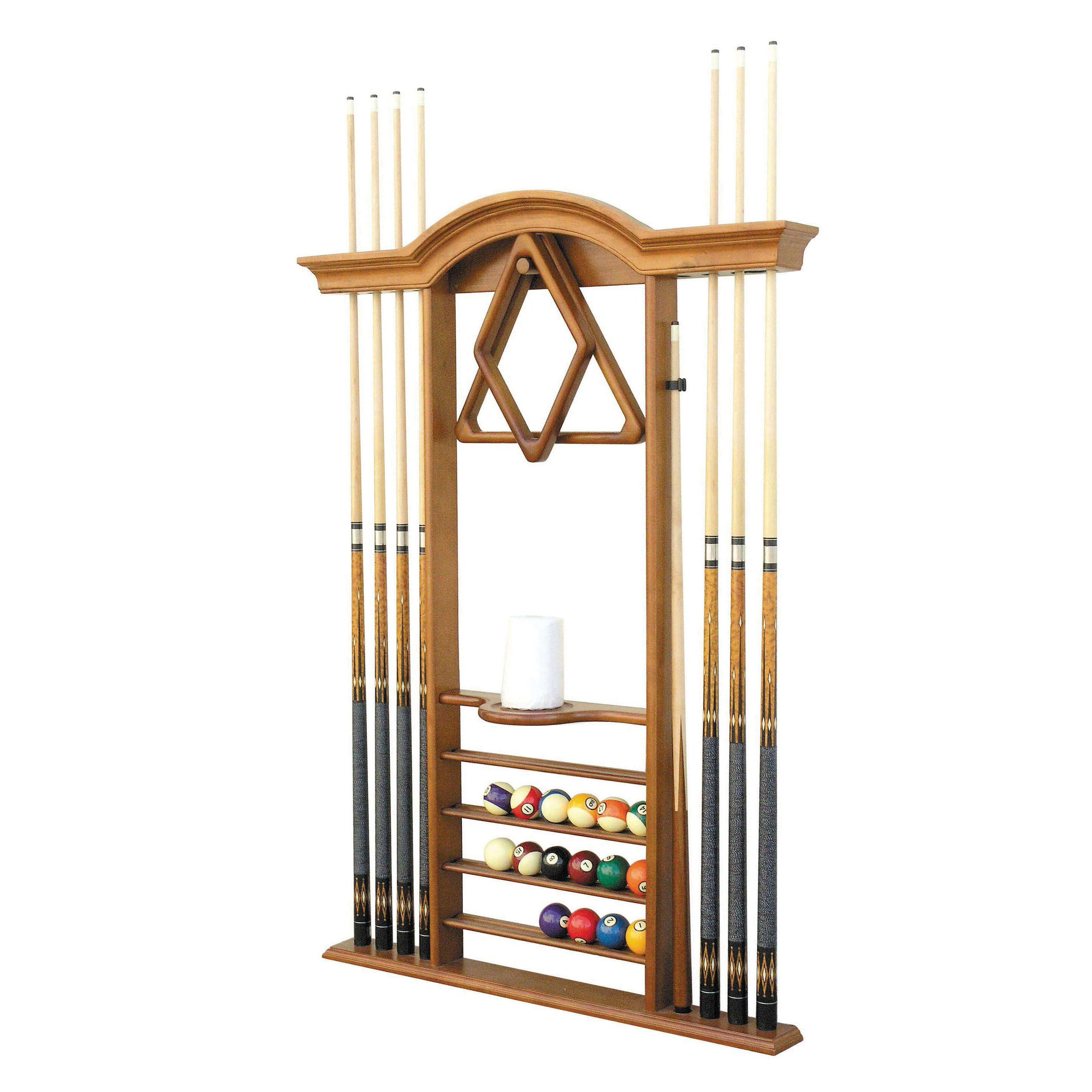 The Level Best Deluxe Wall Pool Cue Rack Amp Reviews Wayfair