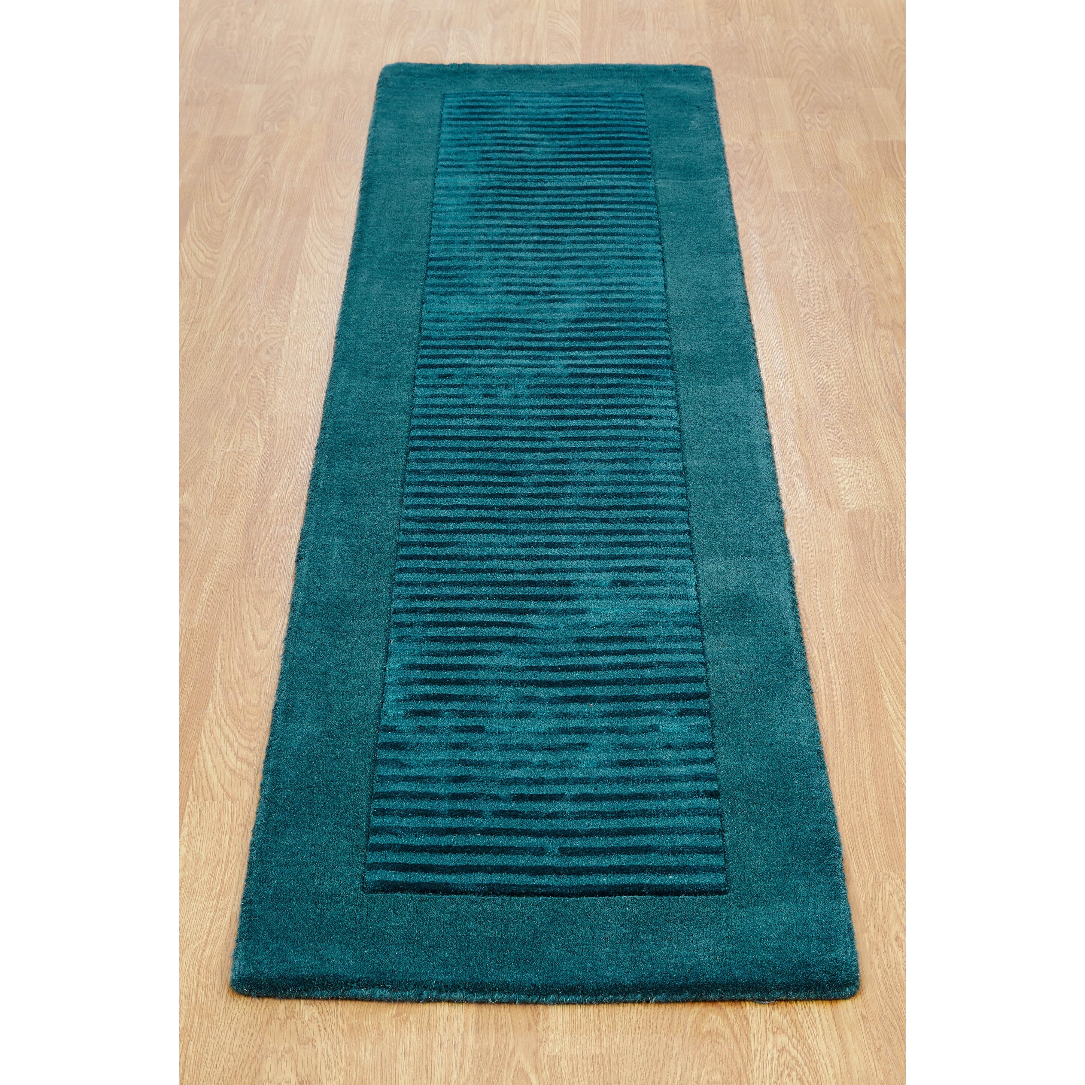 Brook Lane Rugs Henley Hand-Woven Teal Area Rug & Reviews