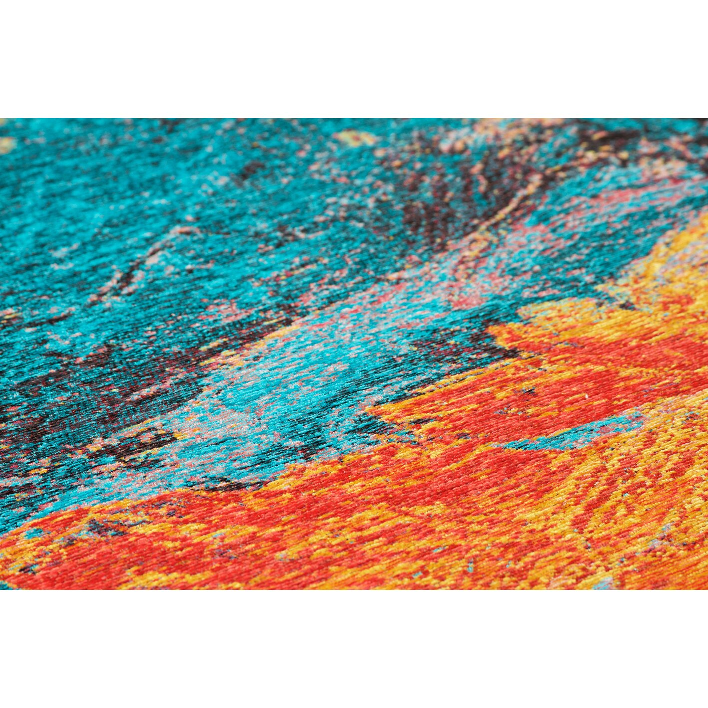 brook lane rugs miro blue orange area rug reviews. Black Bedroom Furniture Sets. Home Design Ideas