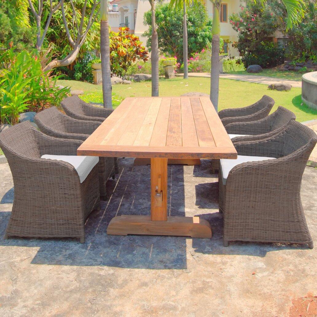 Padmas Plantation Porto Fino Outdoor Dining Table Wayfair