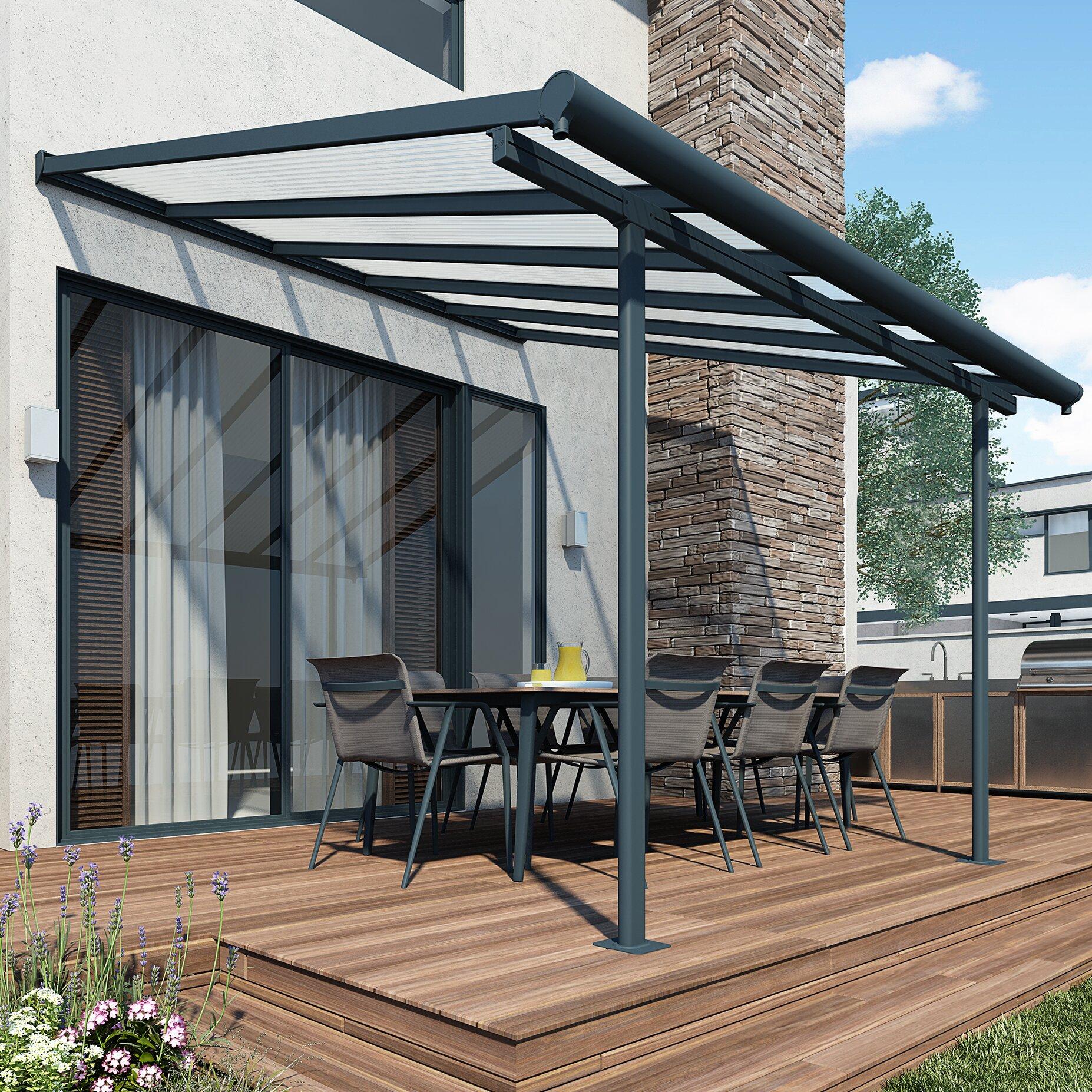 Palram Garden Sierra Patio Cover 3m W x 9.15m D Awning ...
