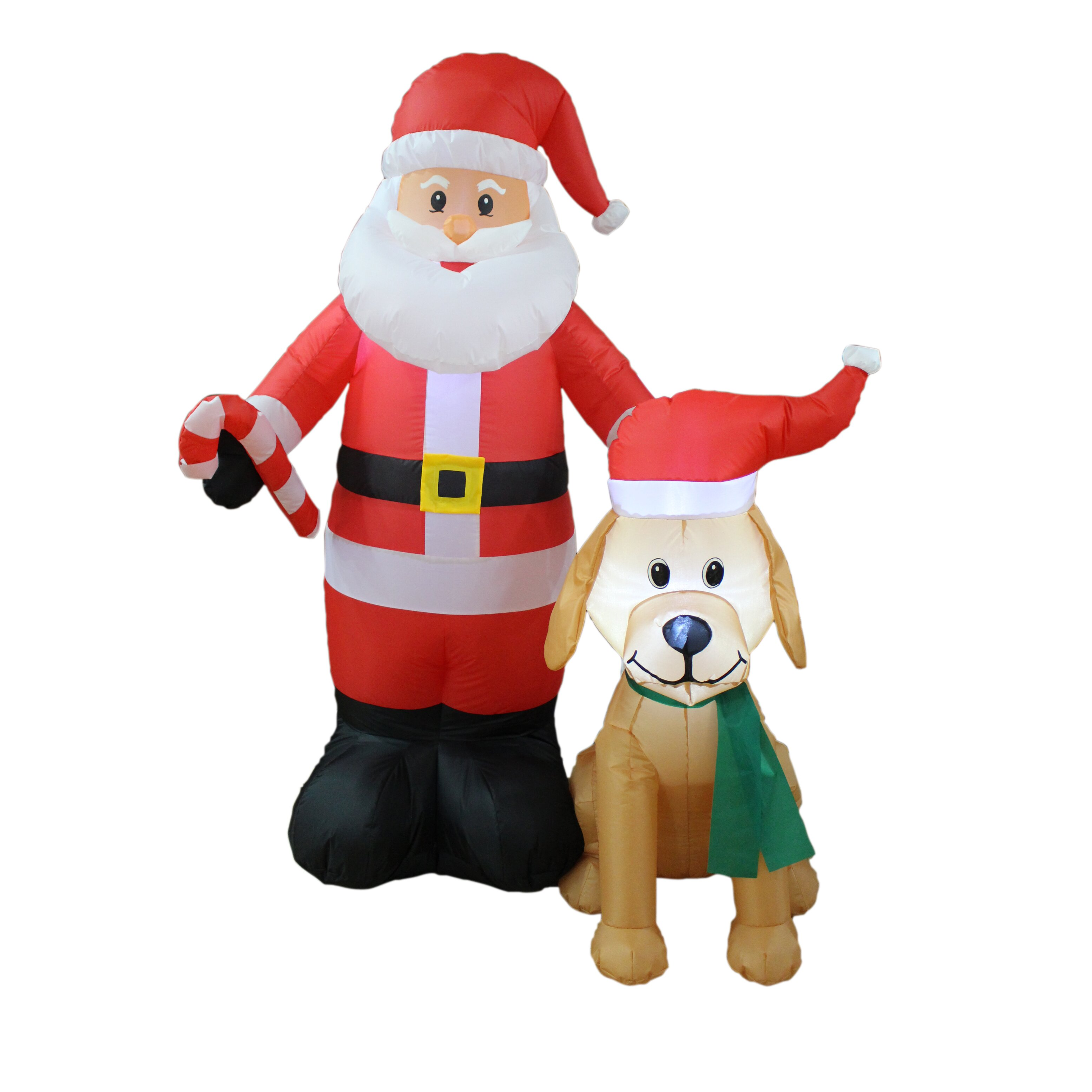 Bzb goods christmas inflatable santa claus with candy cane