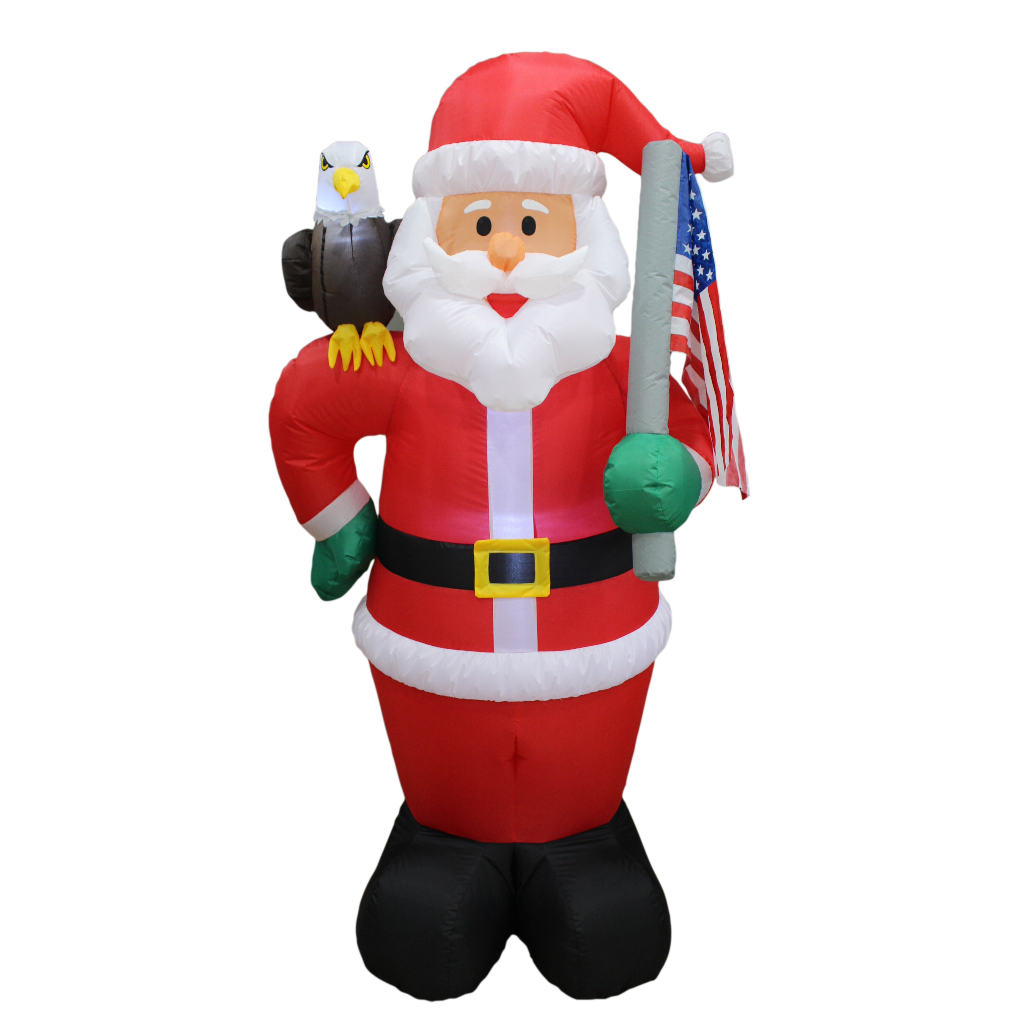 Bzb goods christmas inflatable patriotic santa claus with