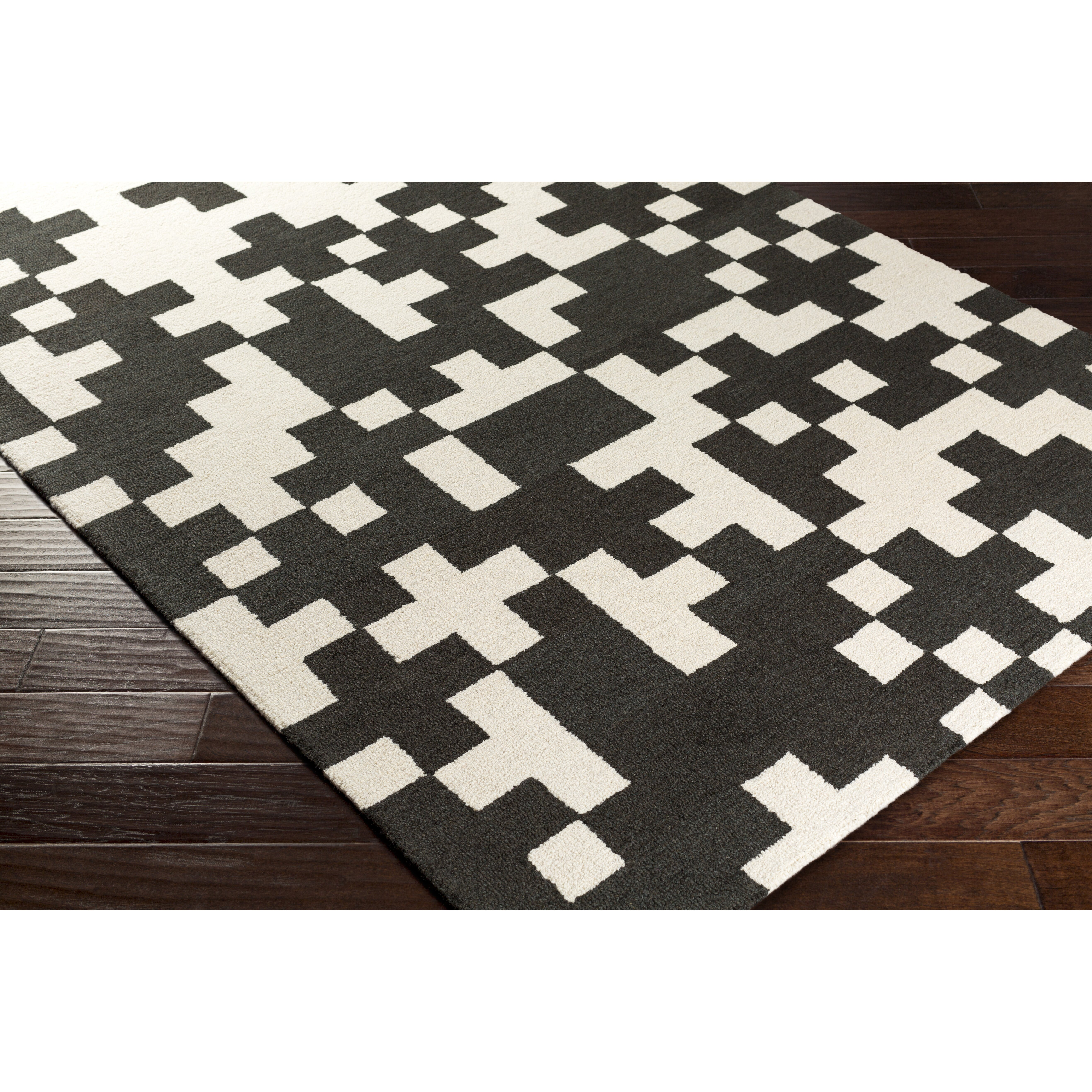 black and white area rug  roselawnlutheran. artistic weavers hilda beatrix handcrafted blackwhite area rug