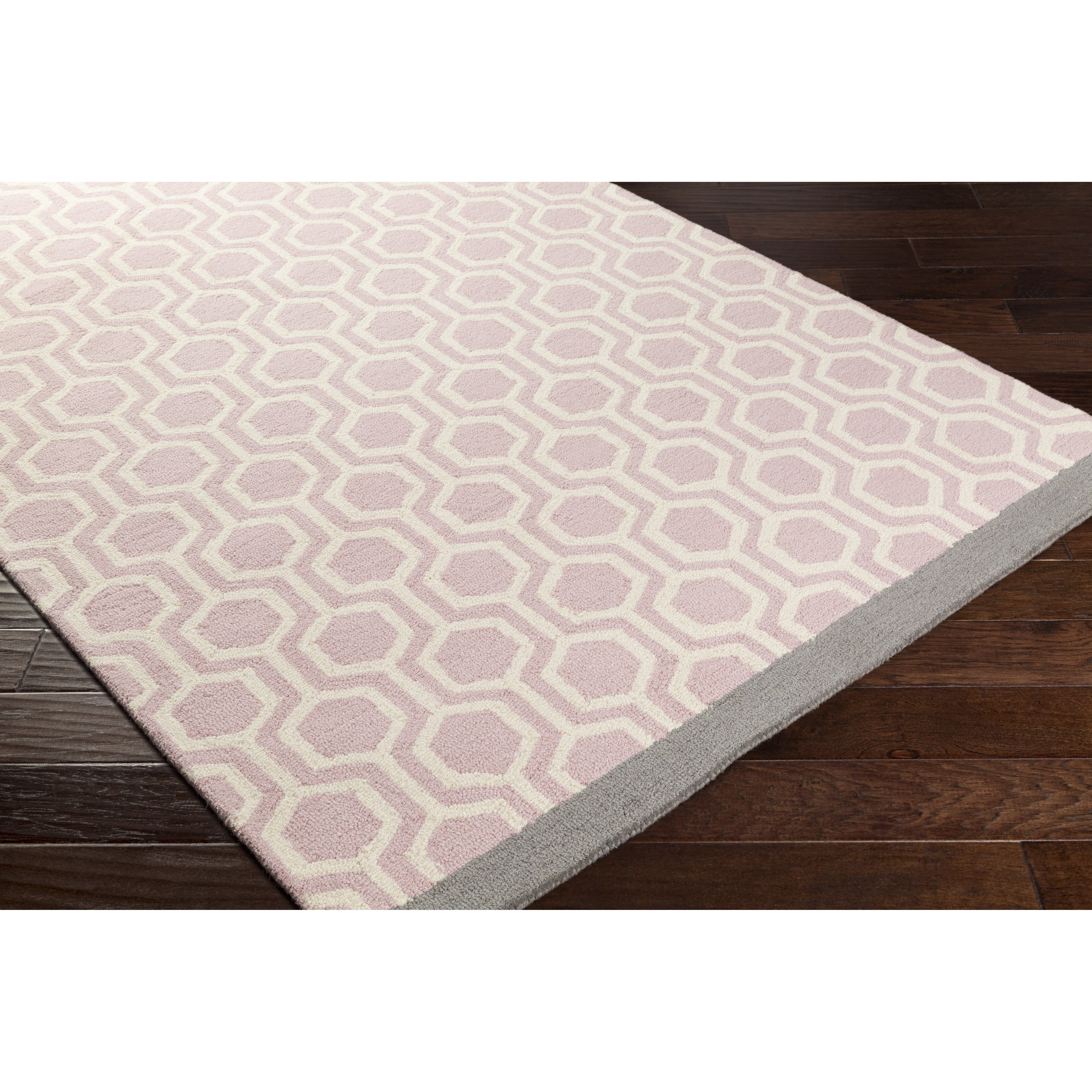 Artistic Weavers Hilda Eva Hand Crafted Light Pink/Gray Area Rug