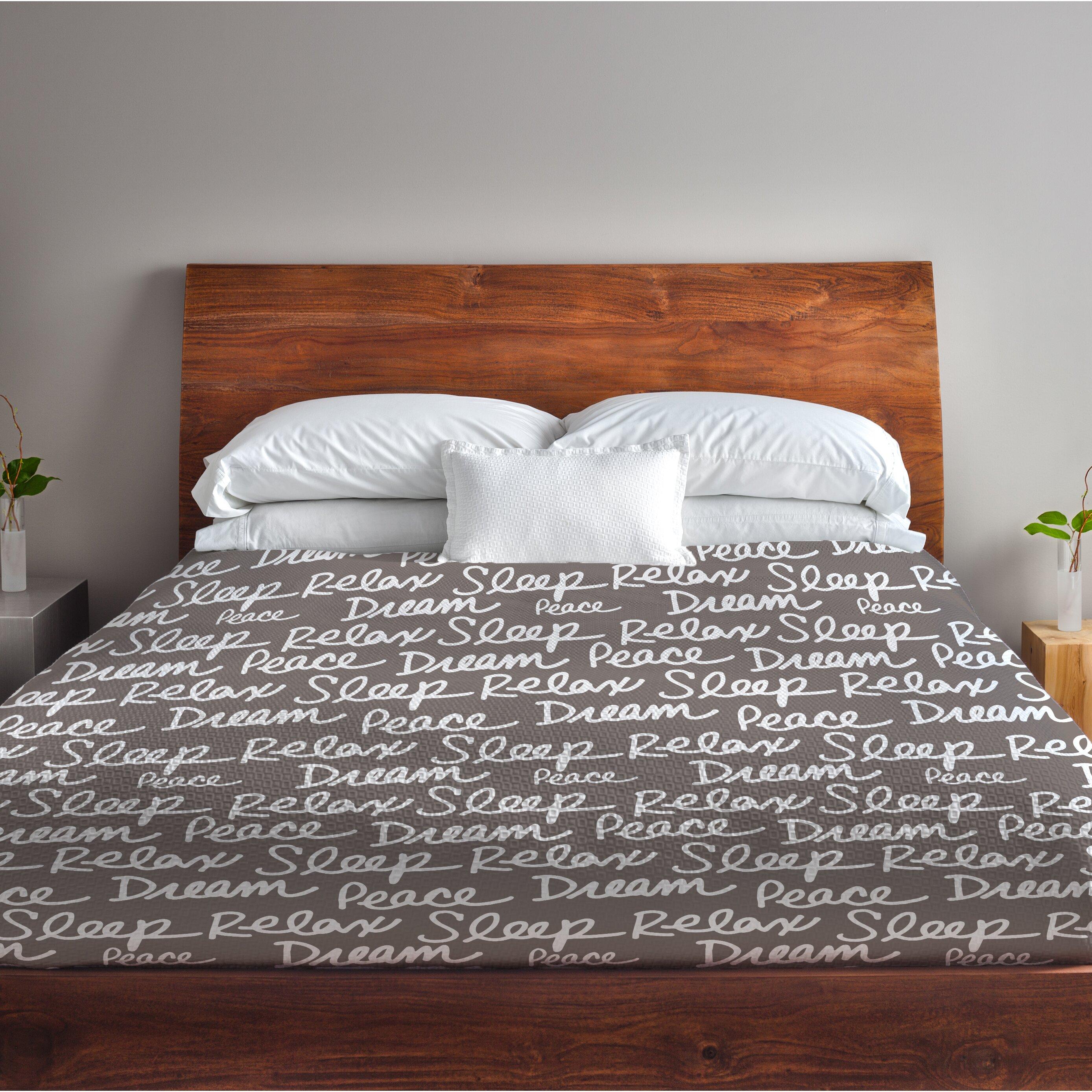 One Bella Casa All Over Sleep Words Fleece Duvet Cover