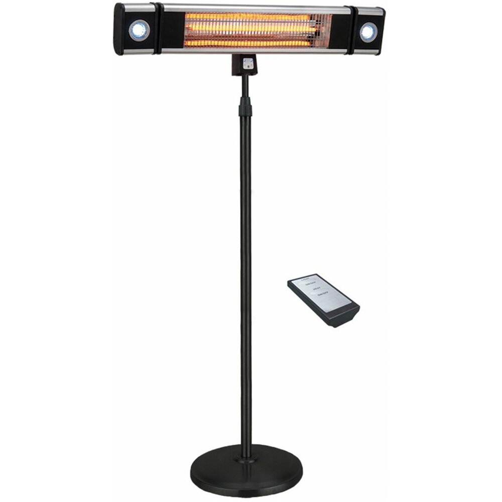 EnerG+ 5,100 BTU Portable Electric Infrared Heater with Led Lights and