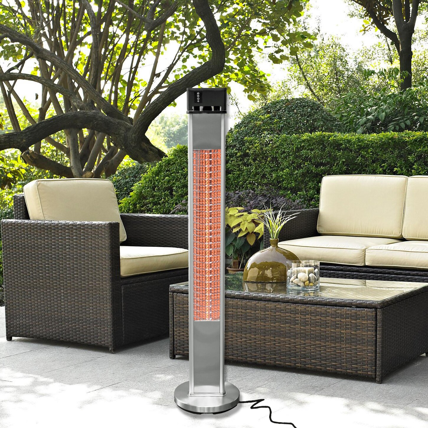 Portable Electric Infrared Tower Heater with Remote Control & Reviews