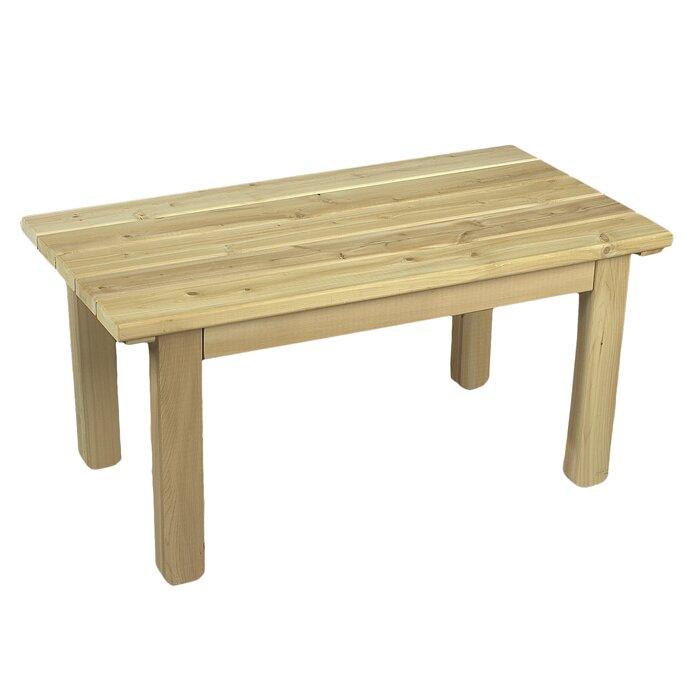 Rustic cedar cedar english garden table amp reviews wayfair