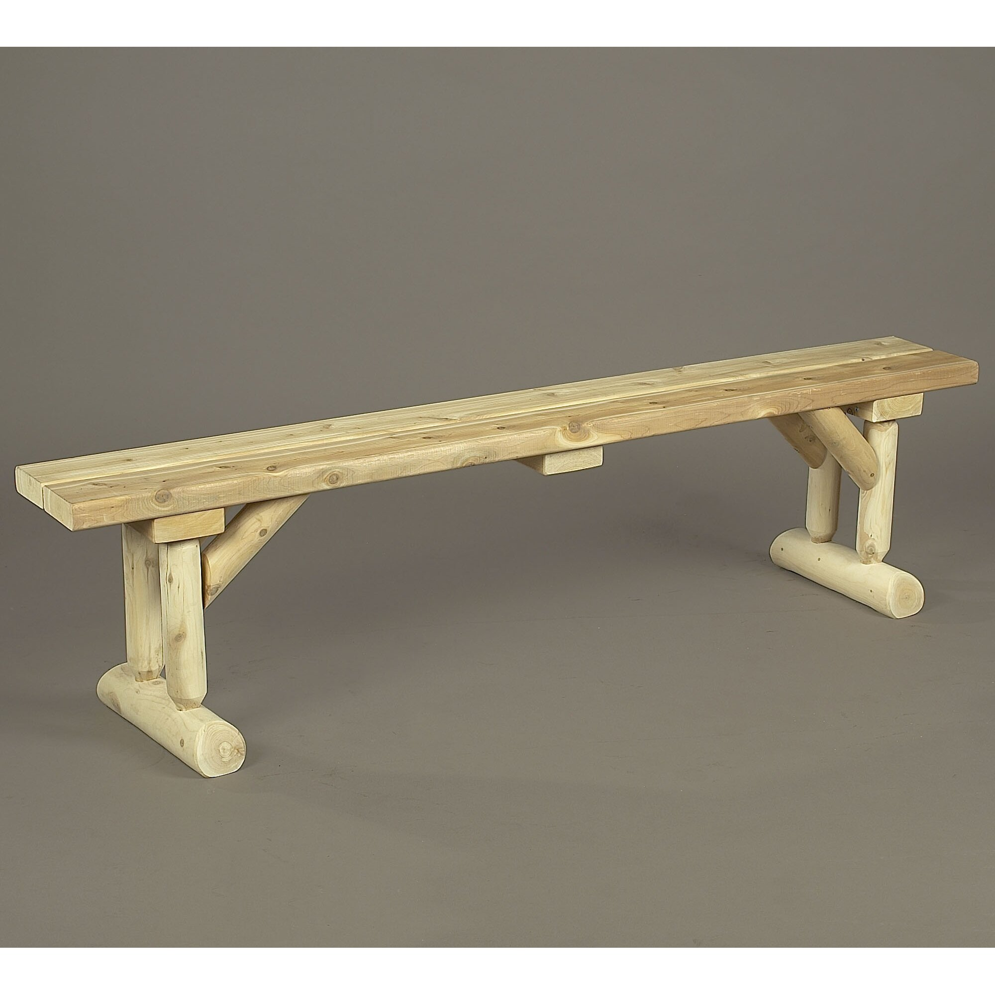 Rustic Cedar Cedar Kitchen Bench & Reviews