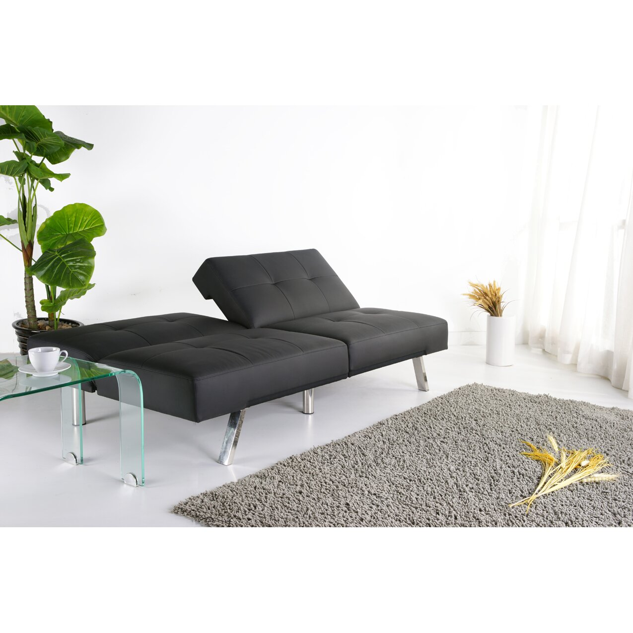 leader lifestyle royale 3 seater clic clac sofa bed reviews. Black Bedroom Furniture Sets. Home Design Ideas