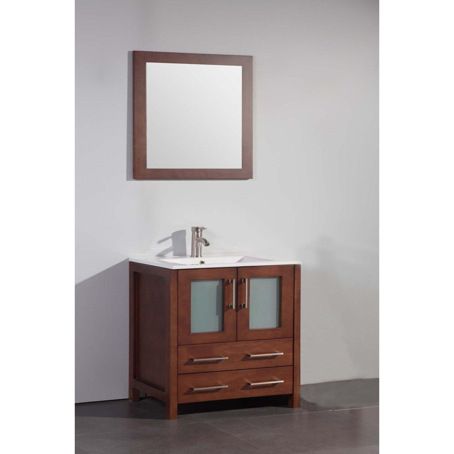 "legion furniture 30"" single bathroom vanity set with mirror"