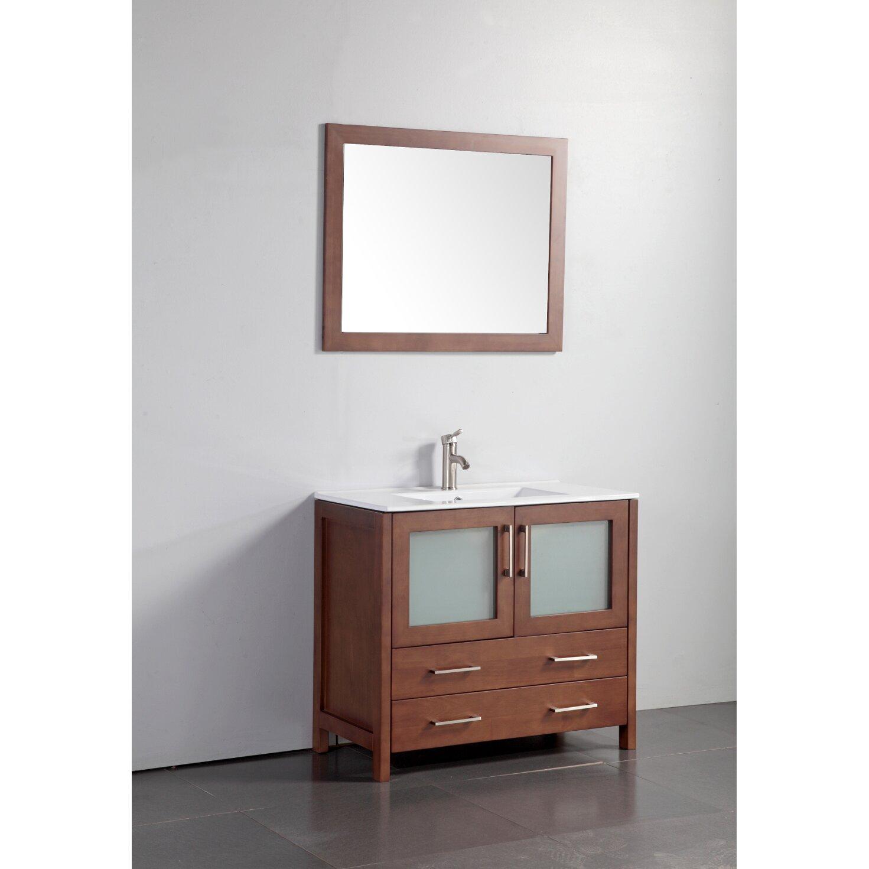 Legion Furniture 36 quot  Single Bathroom Vanity Set with Mirror. Legion Furniture 36  Single Bathroom Vanity Set with Mirror