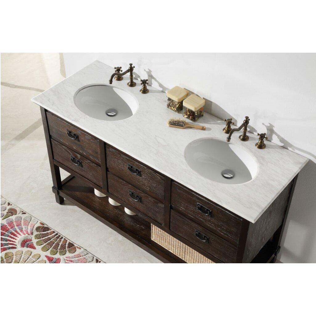 Legion Bathroom Vanity Legion Furniture 60 Double Bathroom Vanity Set Reviews Wayfair