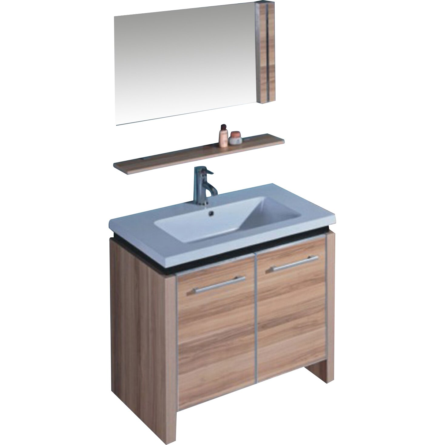 Legion Furniture 31 quot  Single Bathroom Vanity Set with Mirror and Cabinet. Legion Furniture 31  Single Bathroom Vanity Set with Mirror and