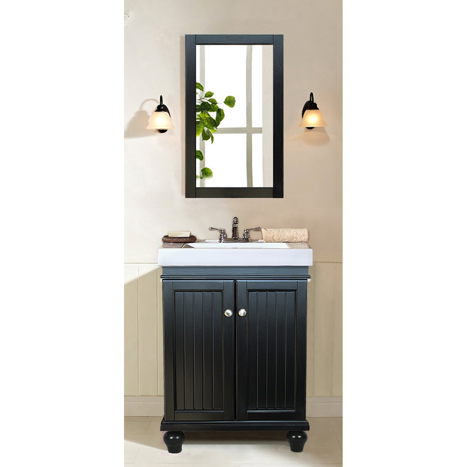 "legion furniture 24"" single bathroom vanity set & reviews 