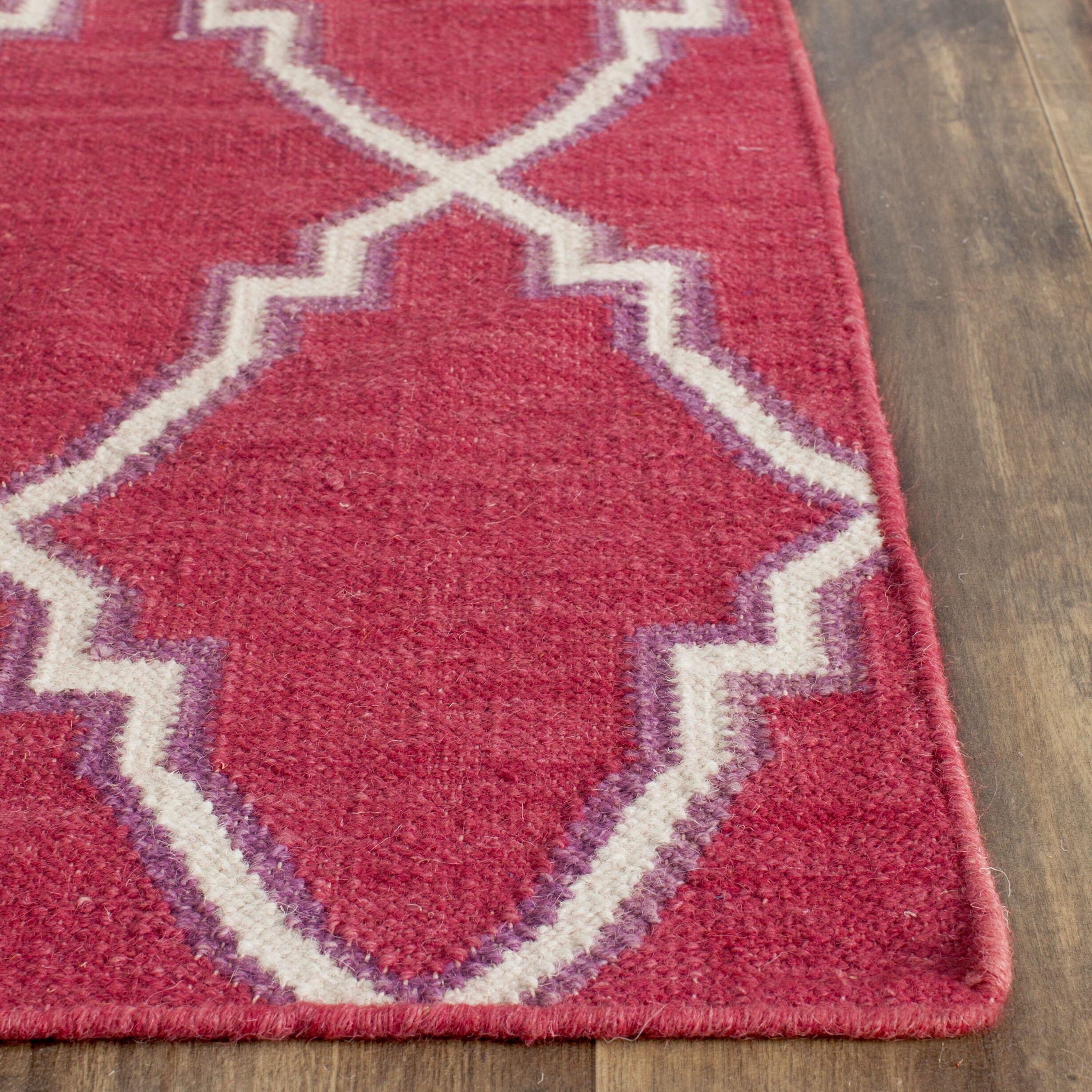 Safavieh Teppich Dhurrie in RotElfenbein & Bewertungen