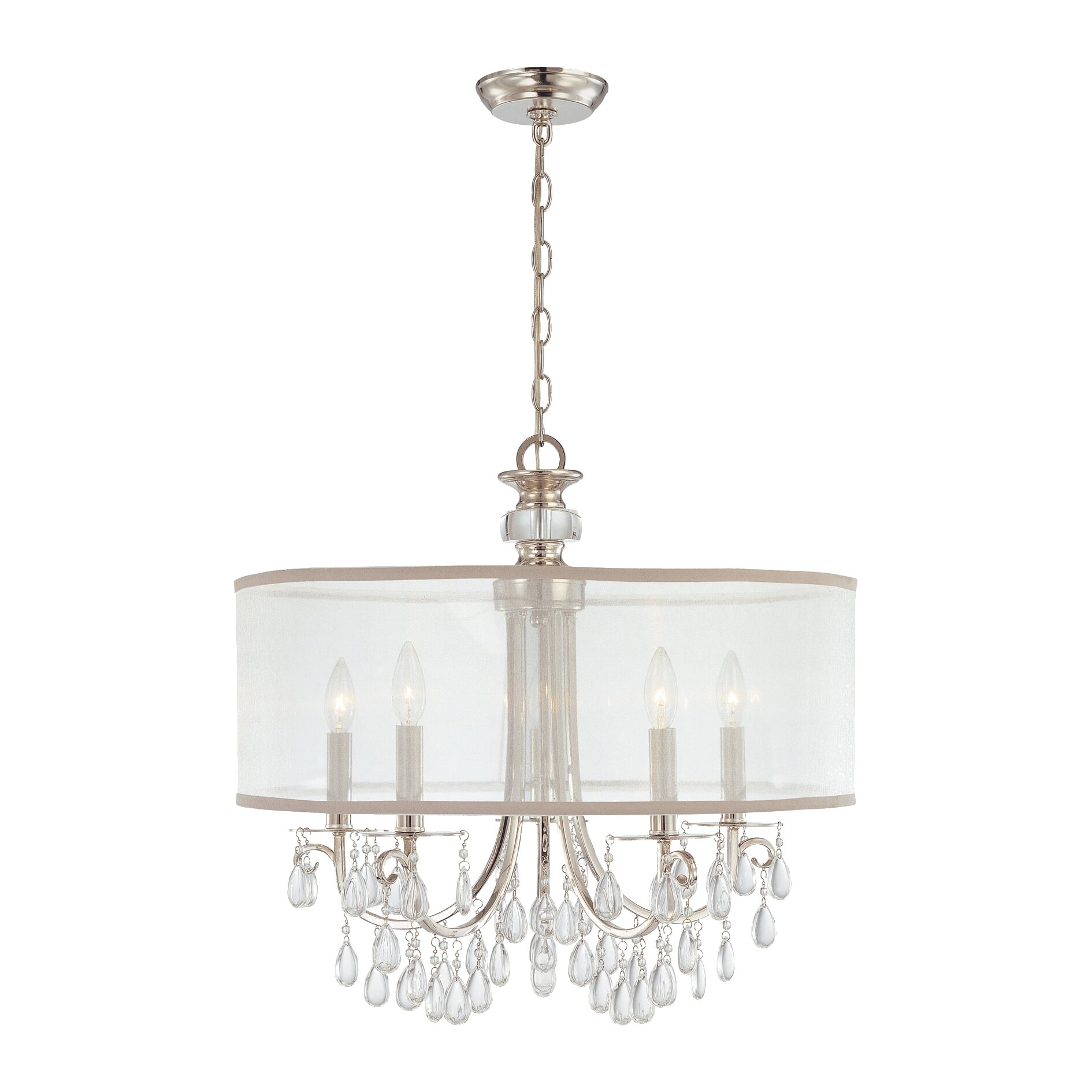 Wayfair Chandelier: Crystorama Hampton 5 Light Drum Chandelier & Reviews