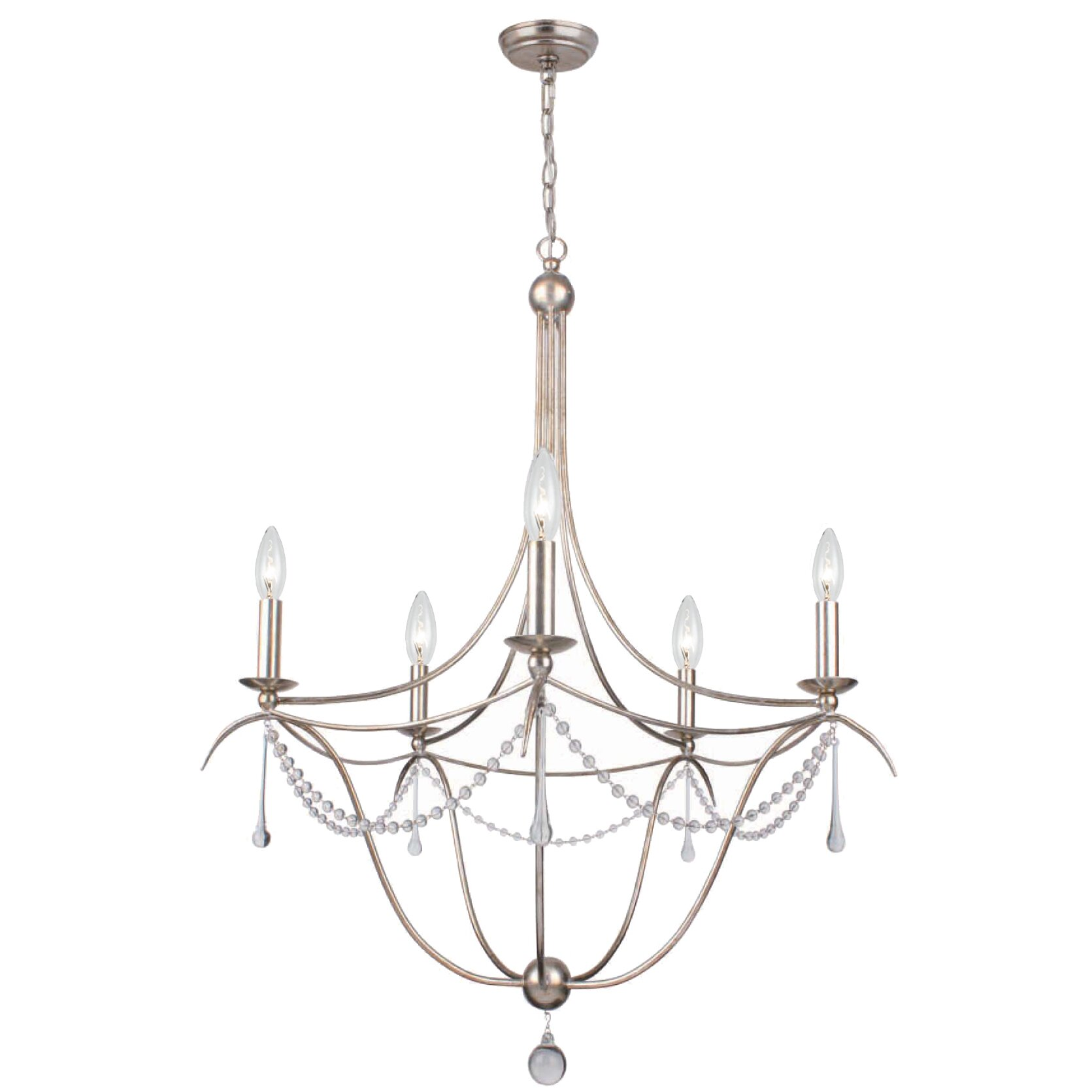 Crystorama Metro II 5Light CandleStyle Chandelier Reviews – Crystorama Chandeliers