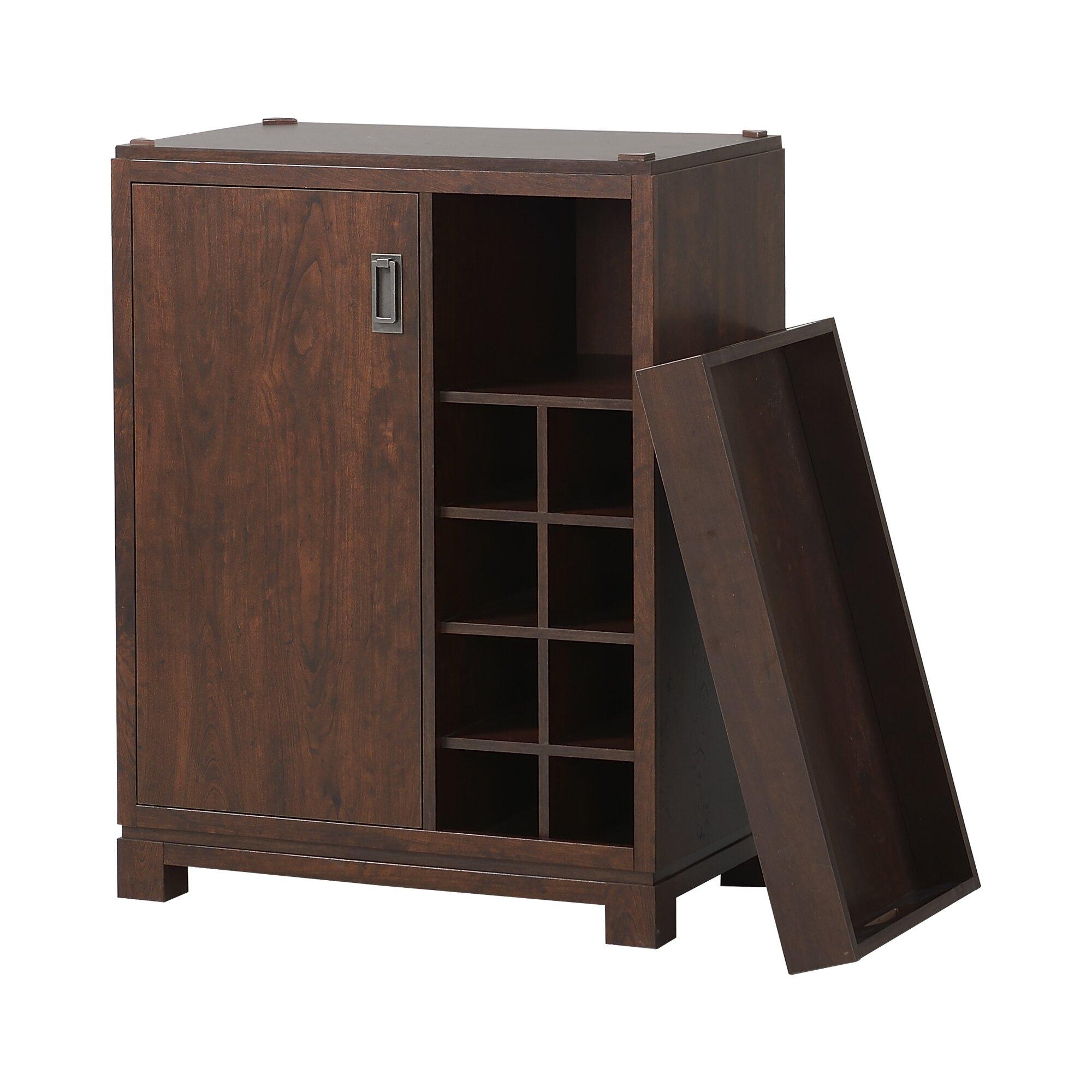 Wine Bar Storage Cabinet Homestar Bar Cabinet With Wine Storage Reviews Wayfair