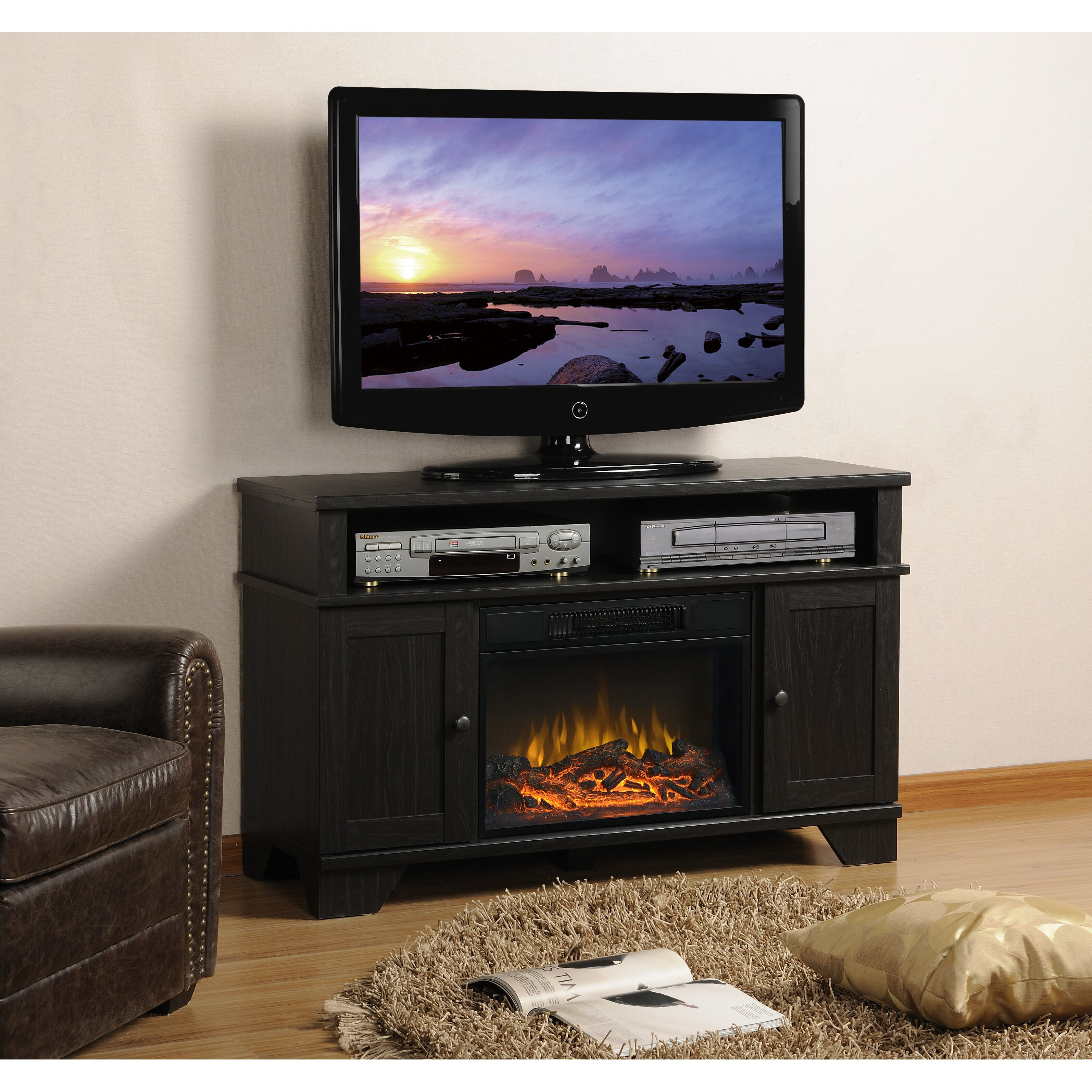 homestar hamilton tv stand with electric fireplace