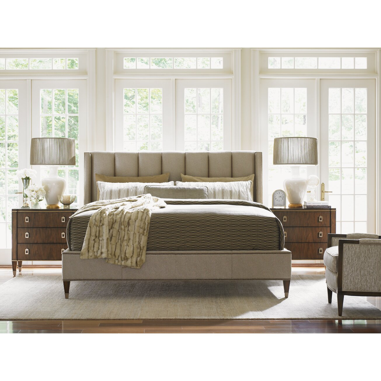 Lexington Bedroom Furniture Lexington Tower Place Upholstered Panel Bed Reviews Wayfair