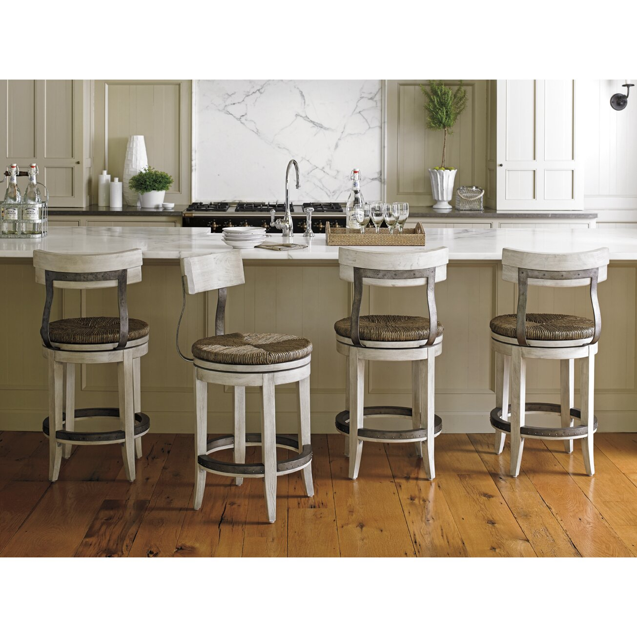 Lexington Oyster Bay 24 Quot Swivel Bar Stool Amp Reviews Wayfair