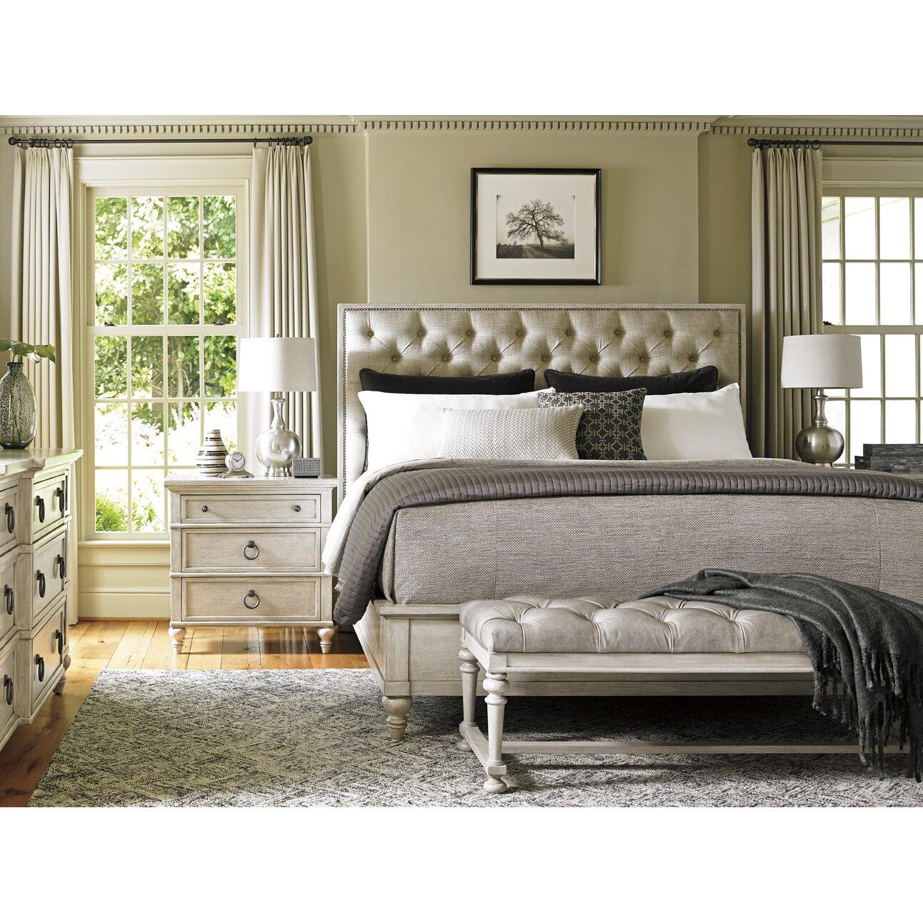 Oyster Bay Bedroom Furniture Lexington Oyster Bay Upholstery Platform Customizable Bedroom Set