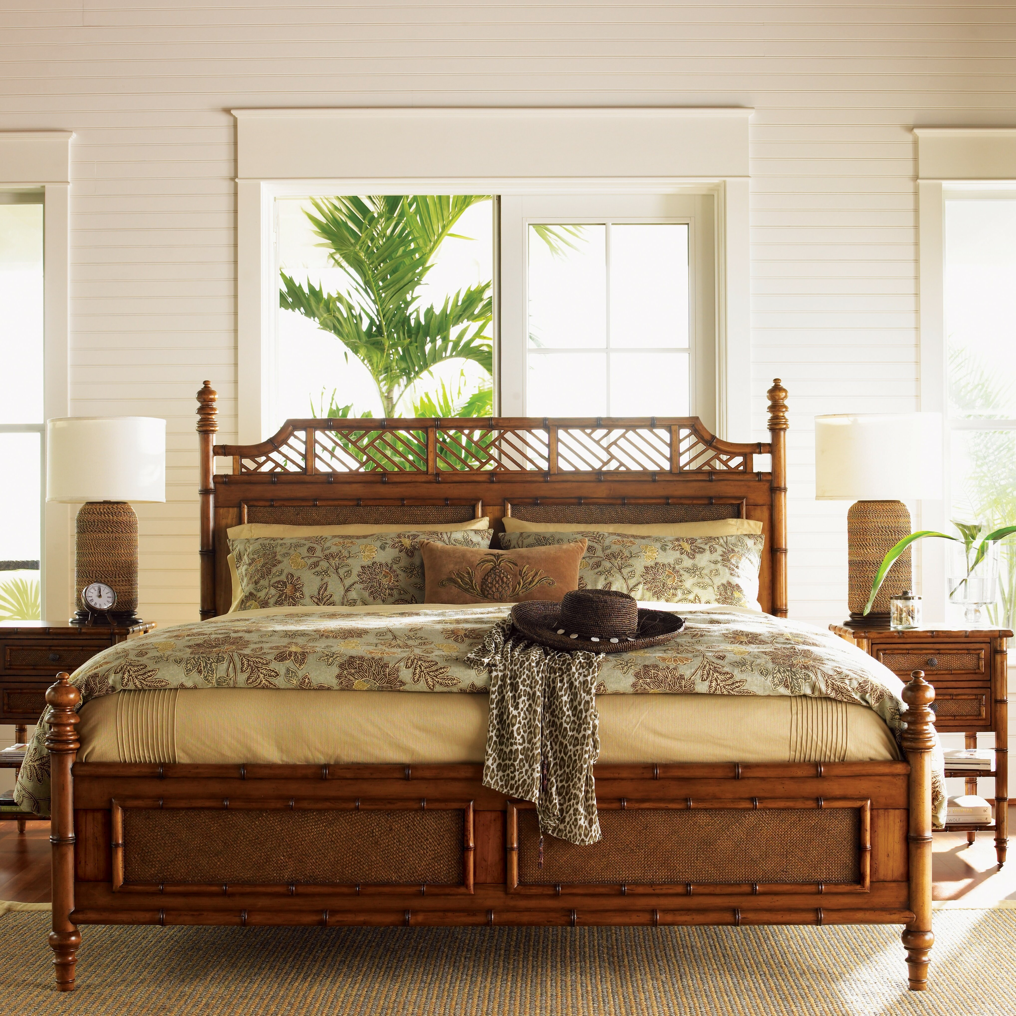 Tommy Bahama Home Island Estate Panel Customizable Bedroom