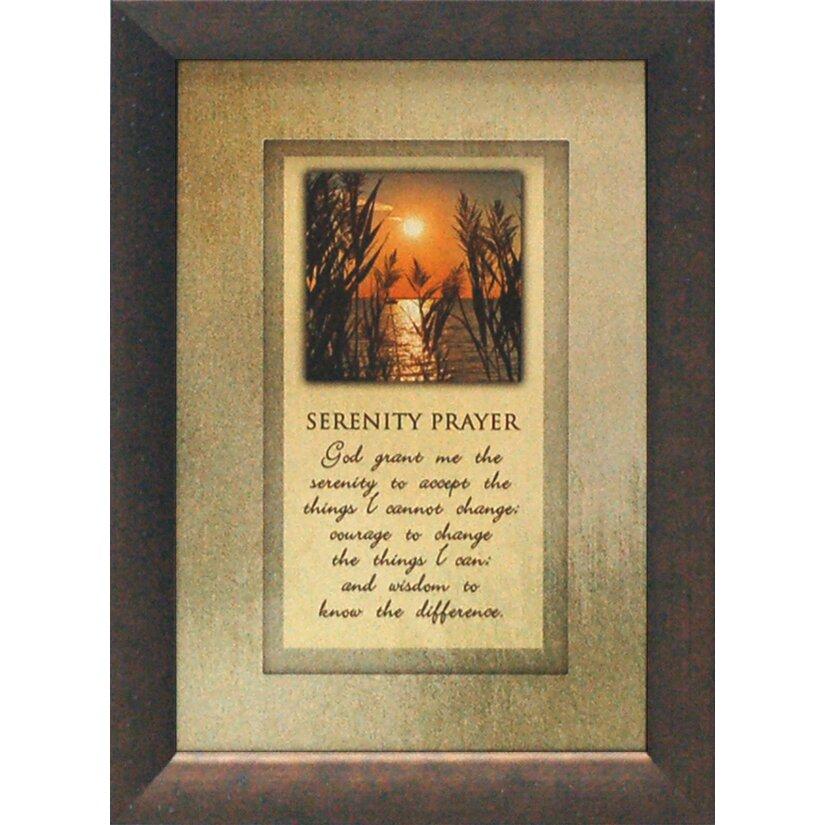 artistic reflections serenity prayer by brett west framed graphic art