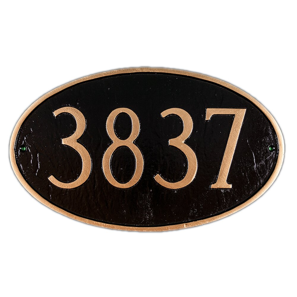 Montague Metal Products Inc Carezza 2sided Hanging Address Plaque