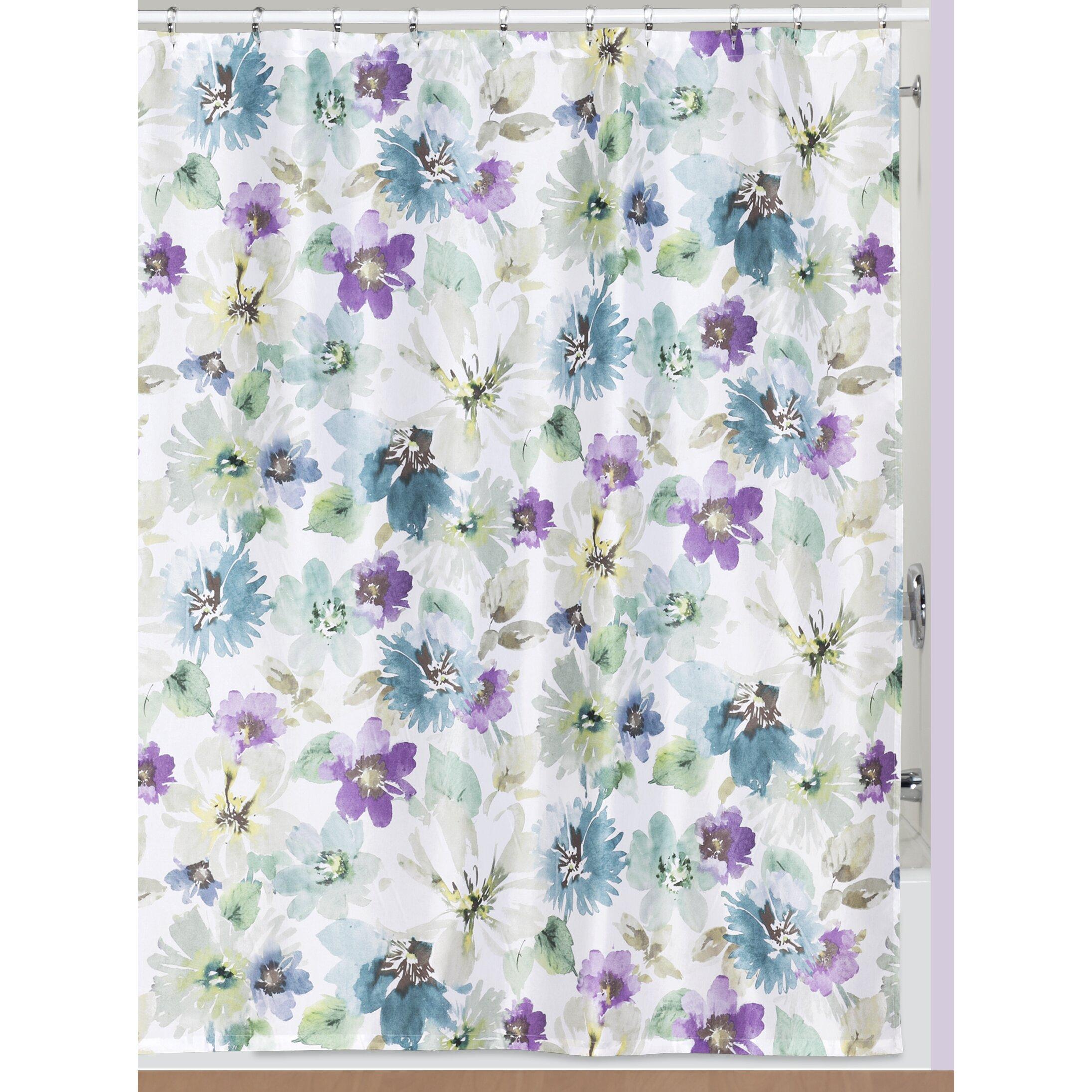 creative bath bouquet shower curtain amp reviews wayfair creative bath garden gate shower curtain amp reviews wayfair